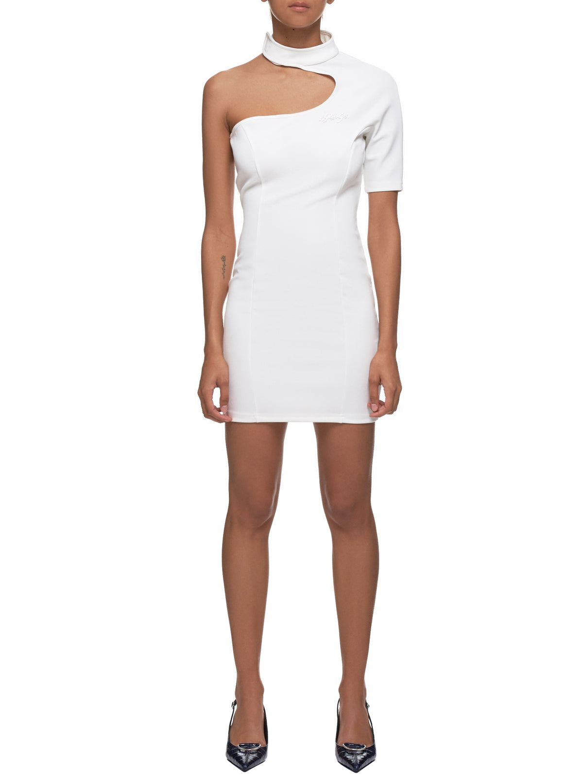 Asymmetric Dress (D2W-OFFWHITE)
