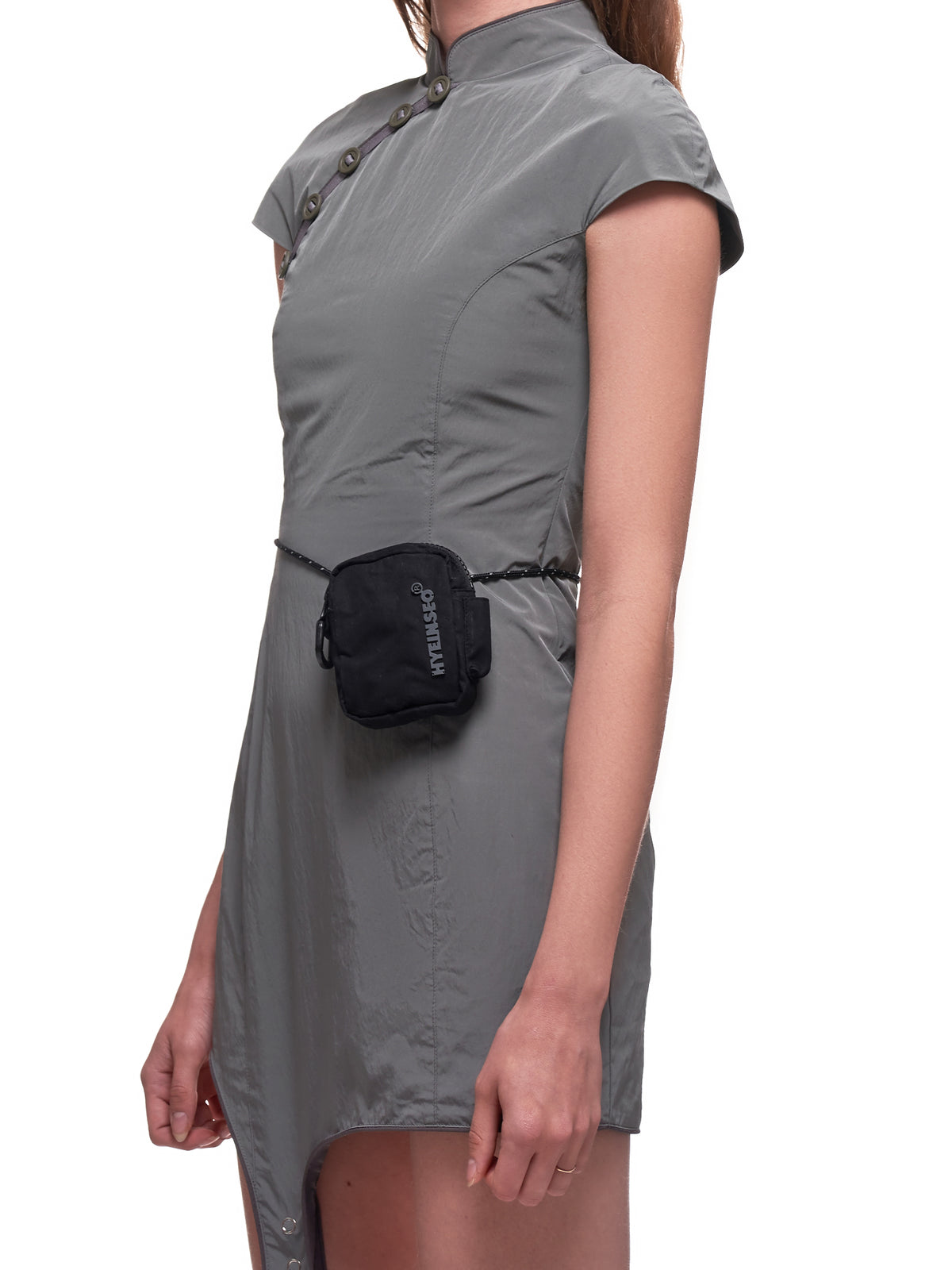 Qipao Dress with Cigarette Pouch (D4G-GRAY)