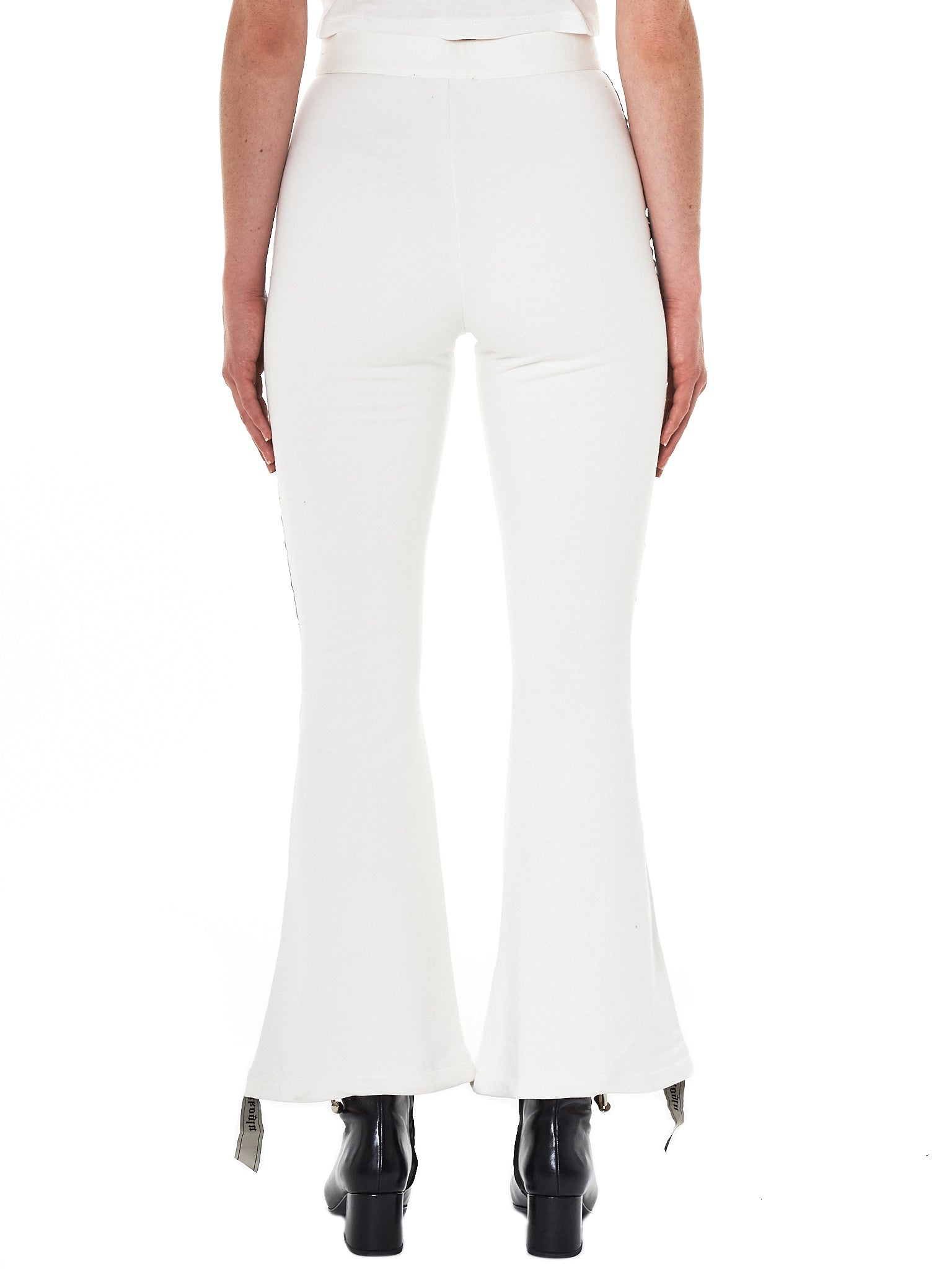 Dilara Findikoglu white flared trouser- Hlorenzo back