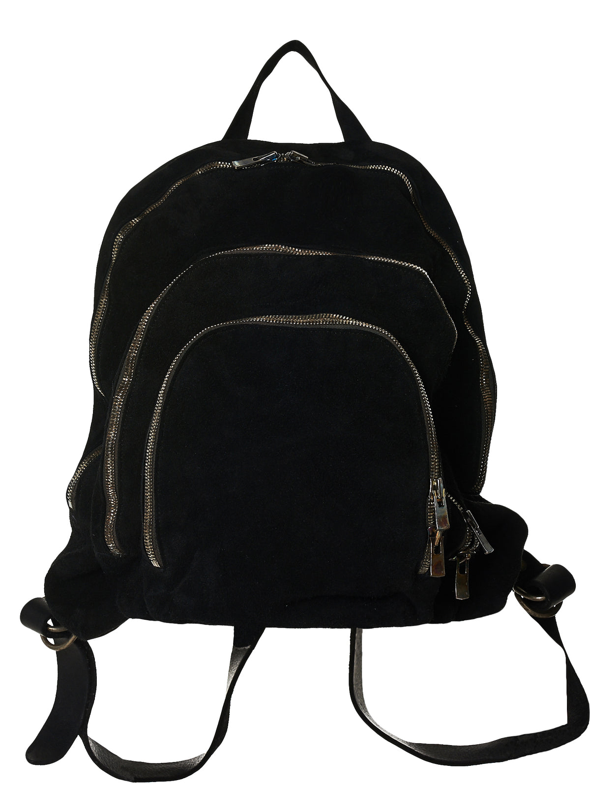 Reversed Leather Backpack (DBP04-SOFT-HORSE-REVERSE-BLKT)