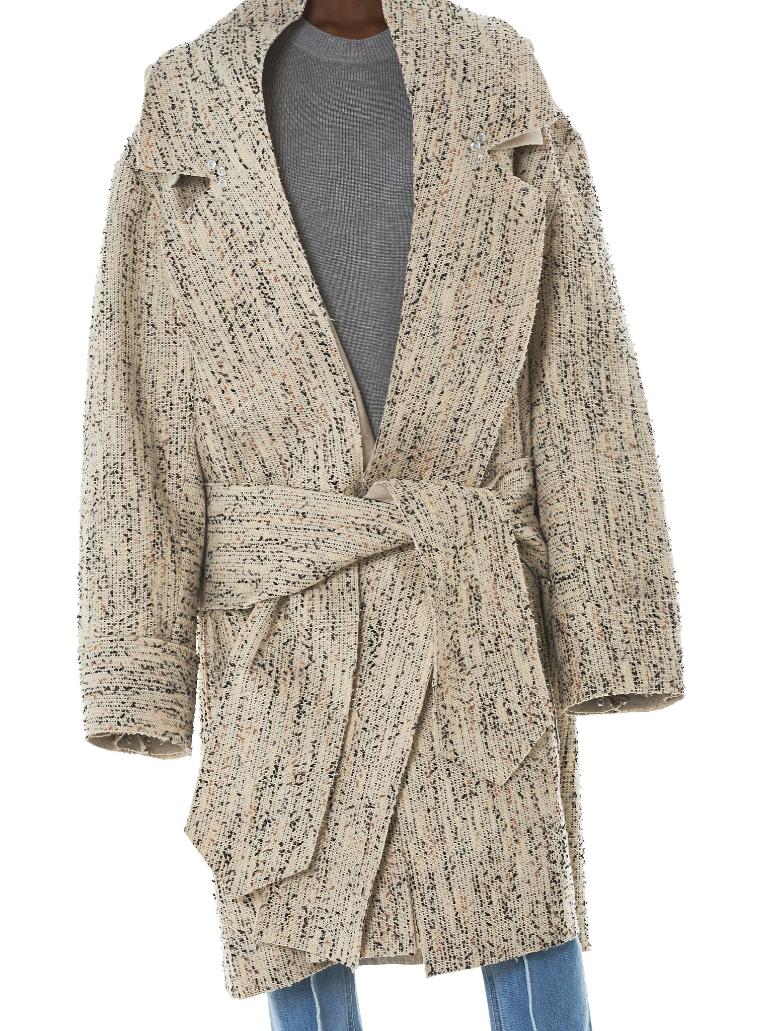 Daniel Gregory Natale Wrap Coat - Hlorenzo Detail 1
