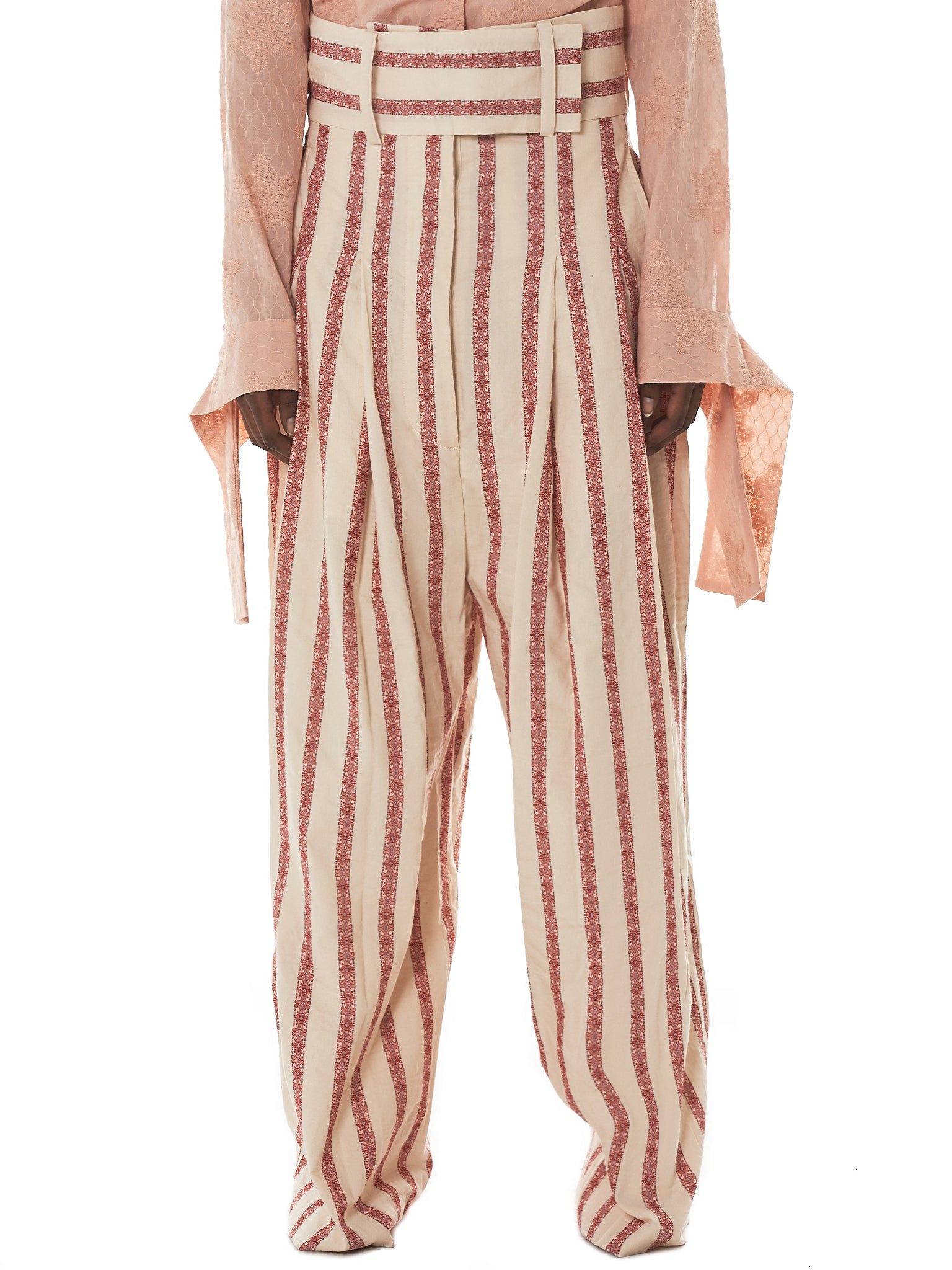 Daniel Gregory Natale Striped Trousers - Hlorenzo Front