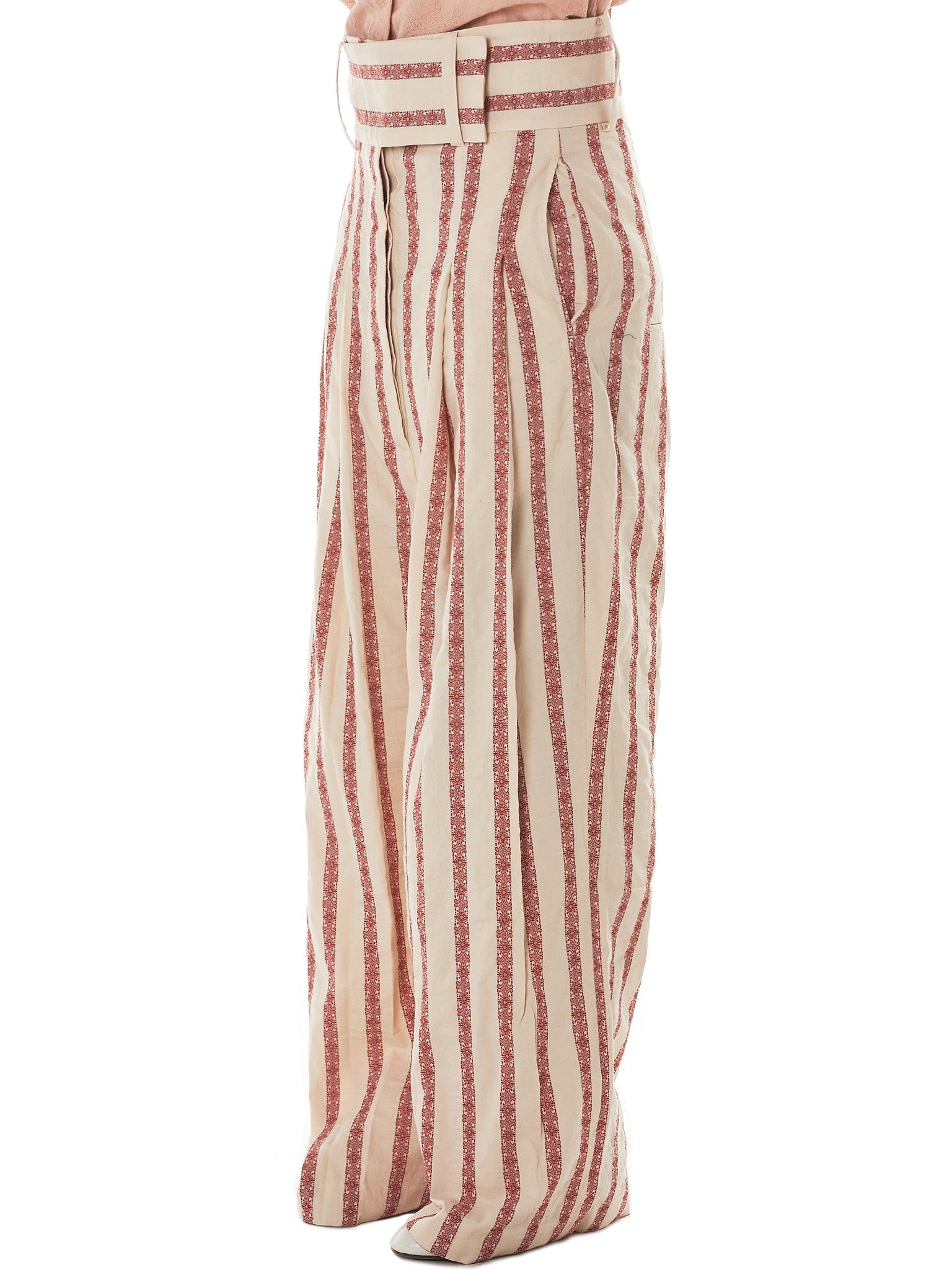 Daniel Gregory Natale Striped Trousers - Hlorenzo Side
