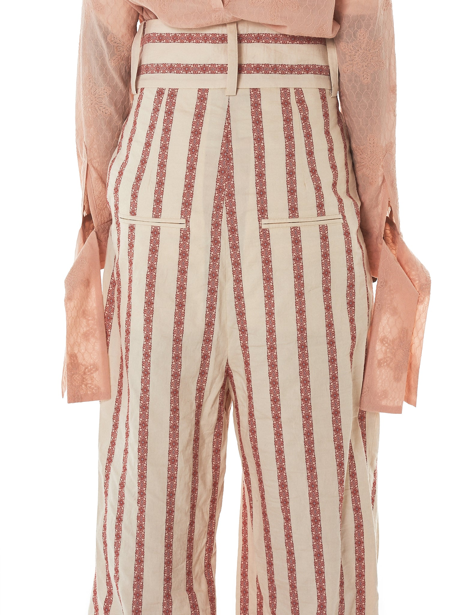 Daniel Gregory Natale Striped Trousers - Hlorenzo Detail 1