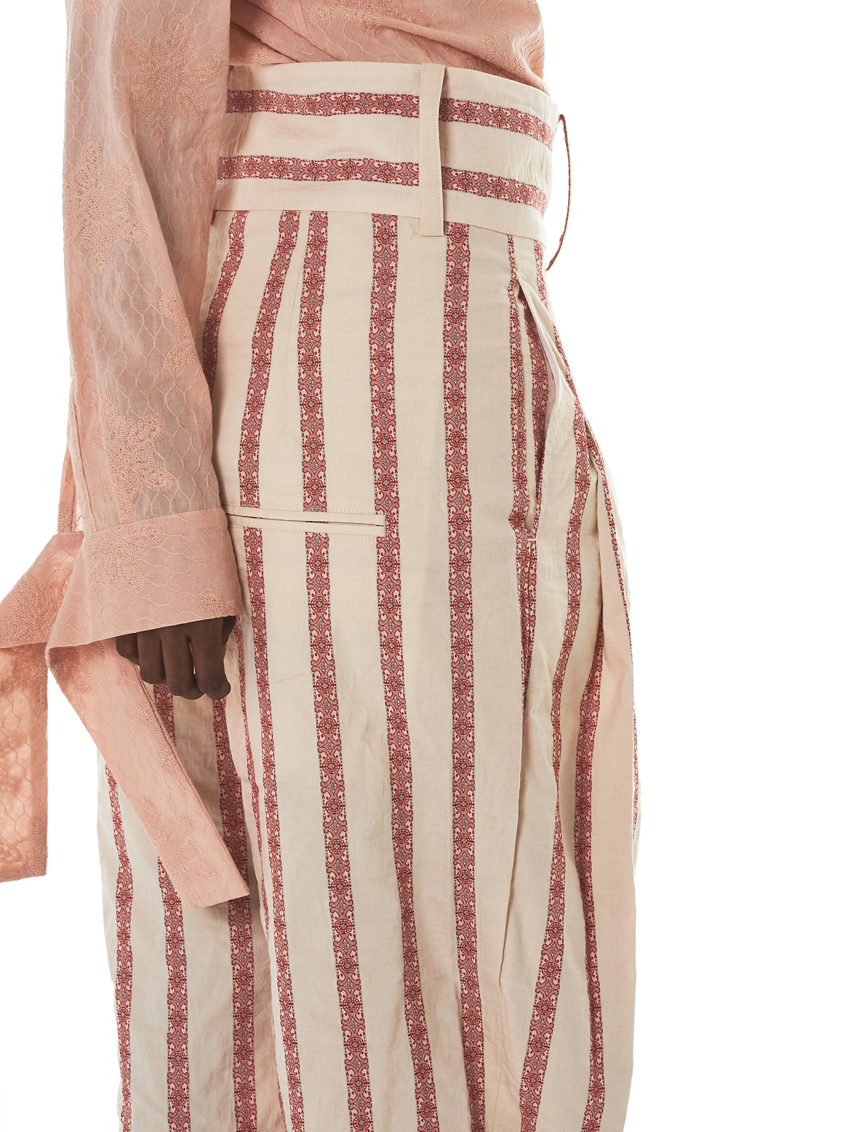 Daniel Gregory Natale Striped Trousers - Hlorenzo Detail 2