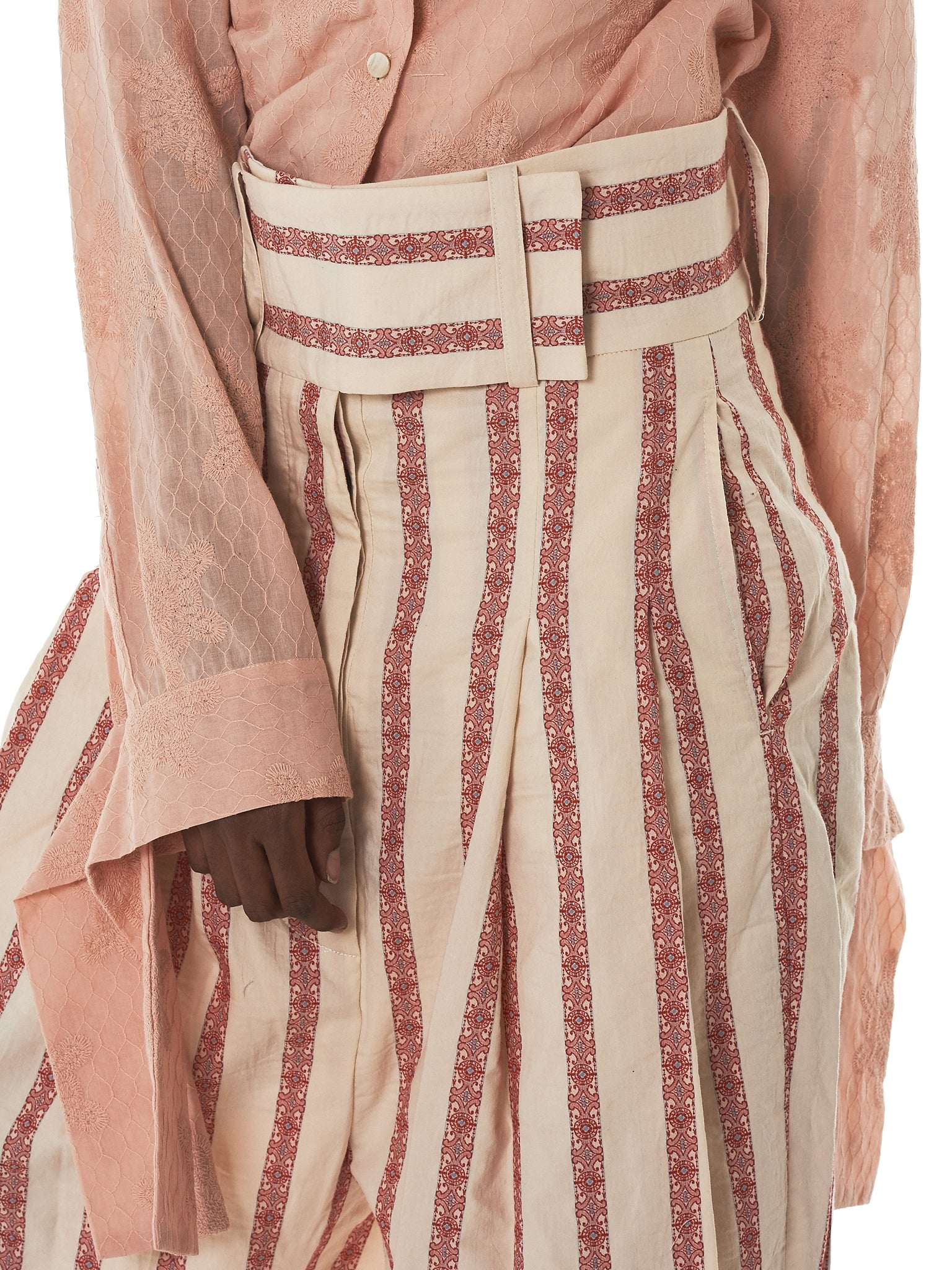 Daniel Gregory Natale Striped Trousers - Hlorenzo Detail 3