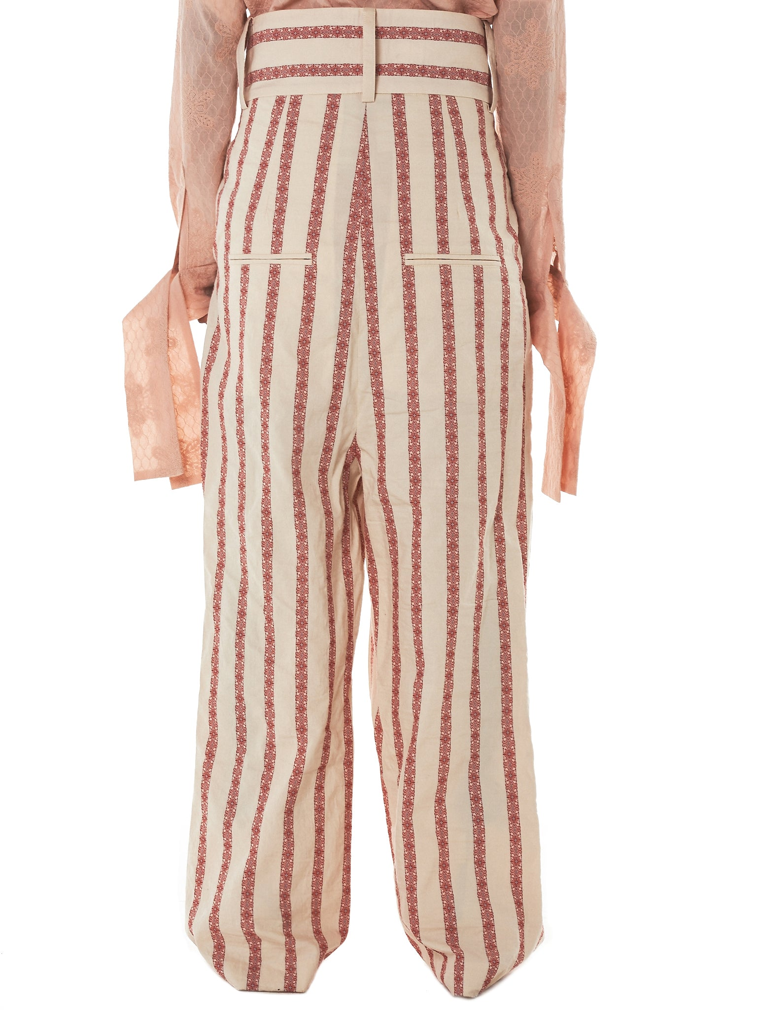 Daniel Gregory Natale Striped Trousers - Hlorenzo Back