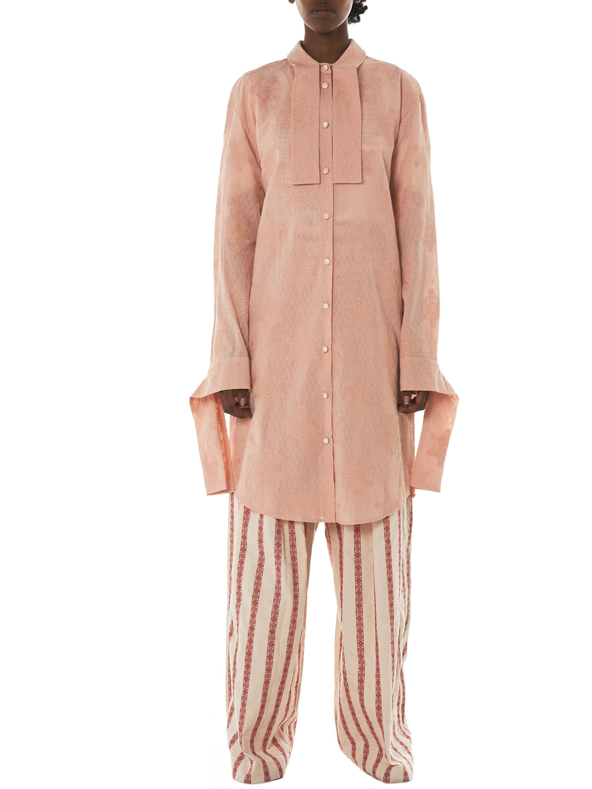 Daniel Gregory Natale Shirt Dress - Hlorenzo Front
