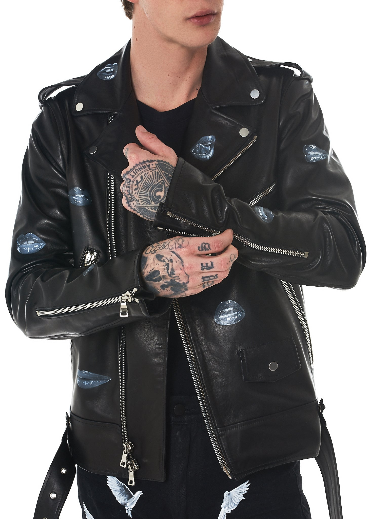 Nahmias Biker Jacket - Hlorenzo Detail 1