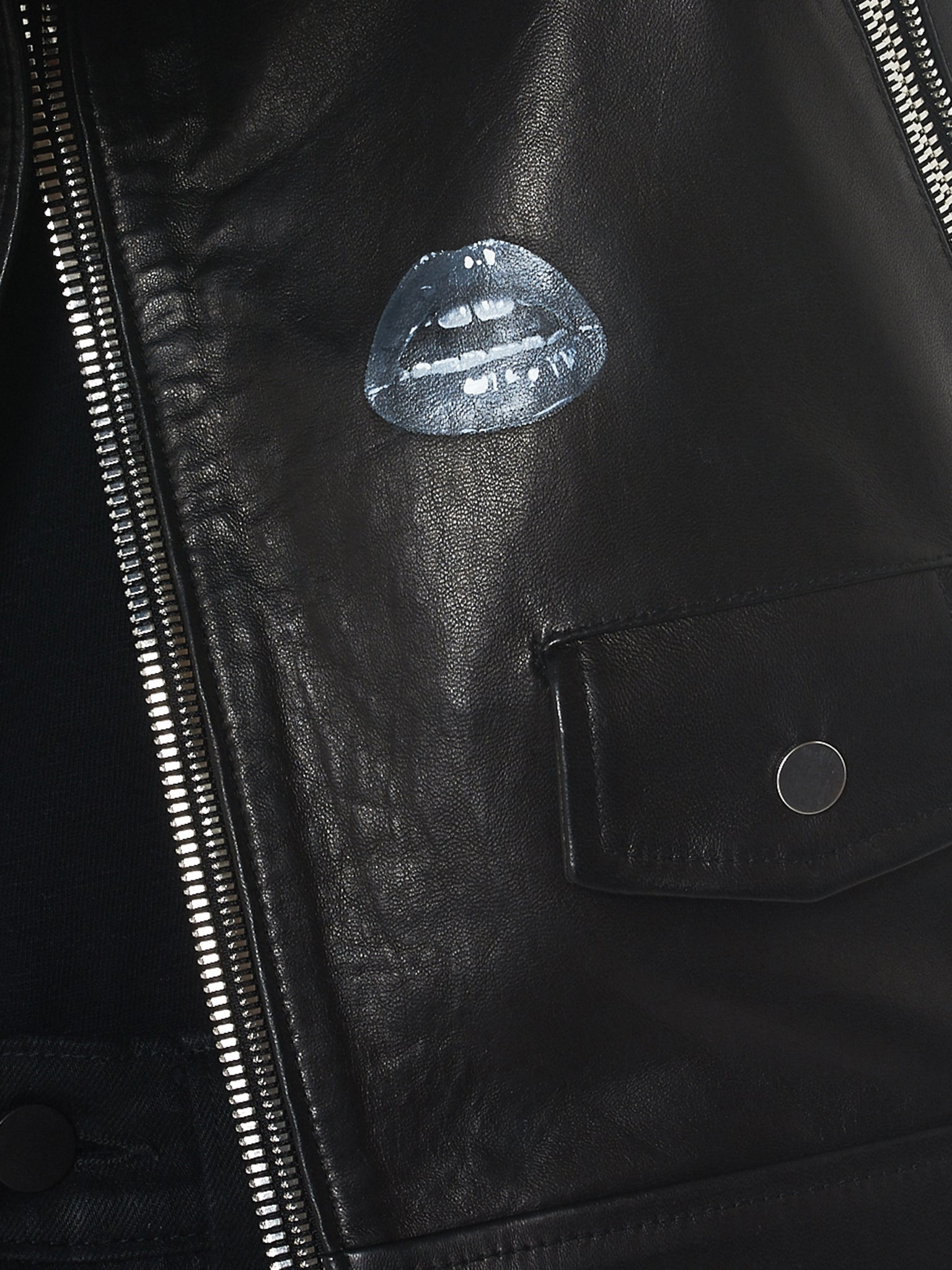 Nahmias Biker Jacket - Hlorenzo Detail 2