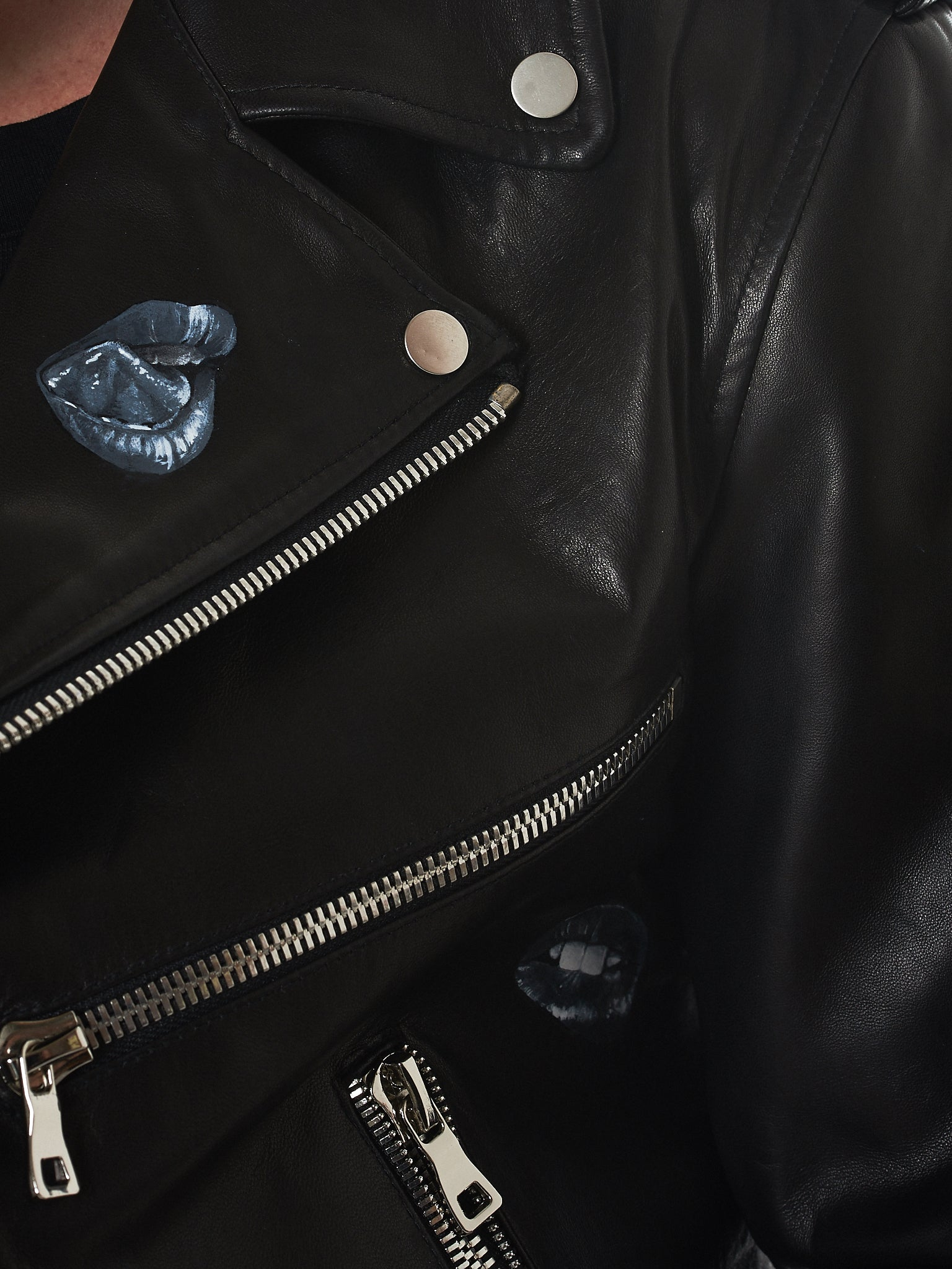 Nahmias Biker Jacket - Hlorenzo Detail 4