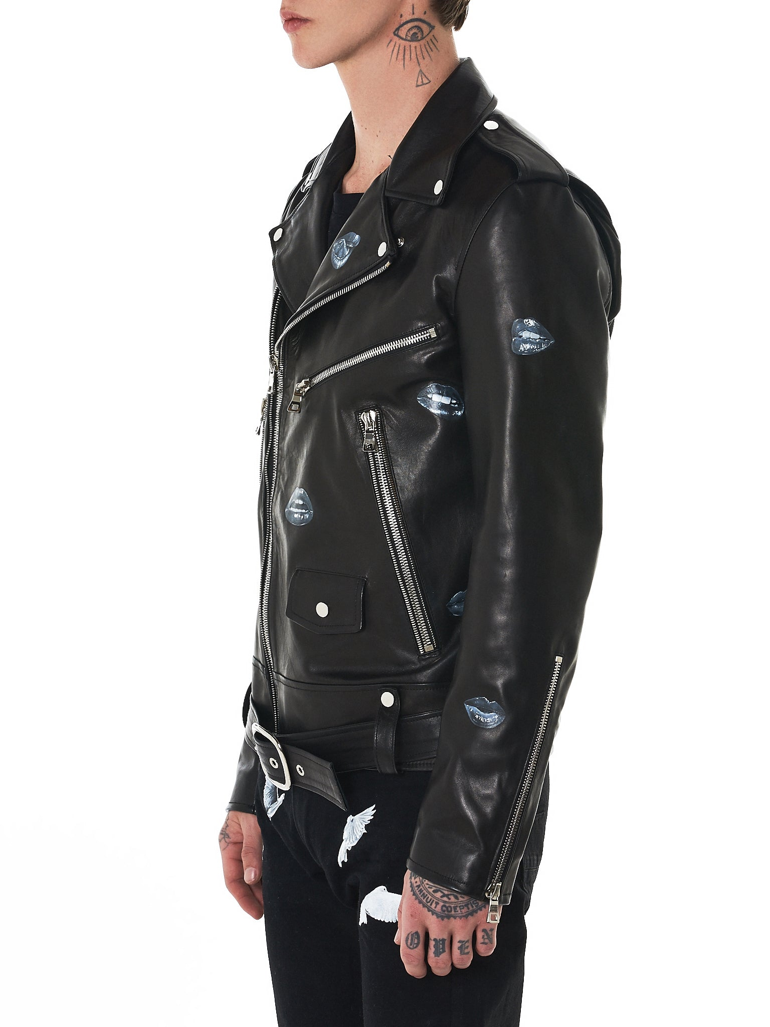 Nahmias Biker Jacket - Hlorenzo Side