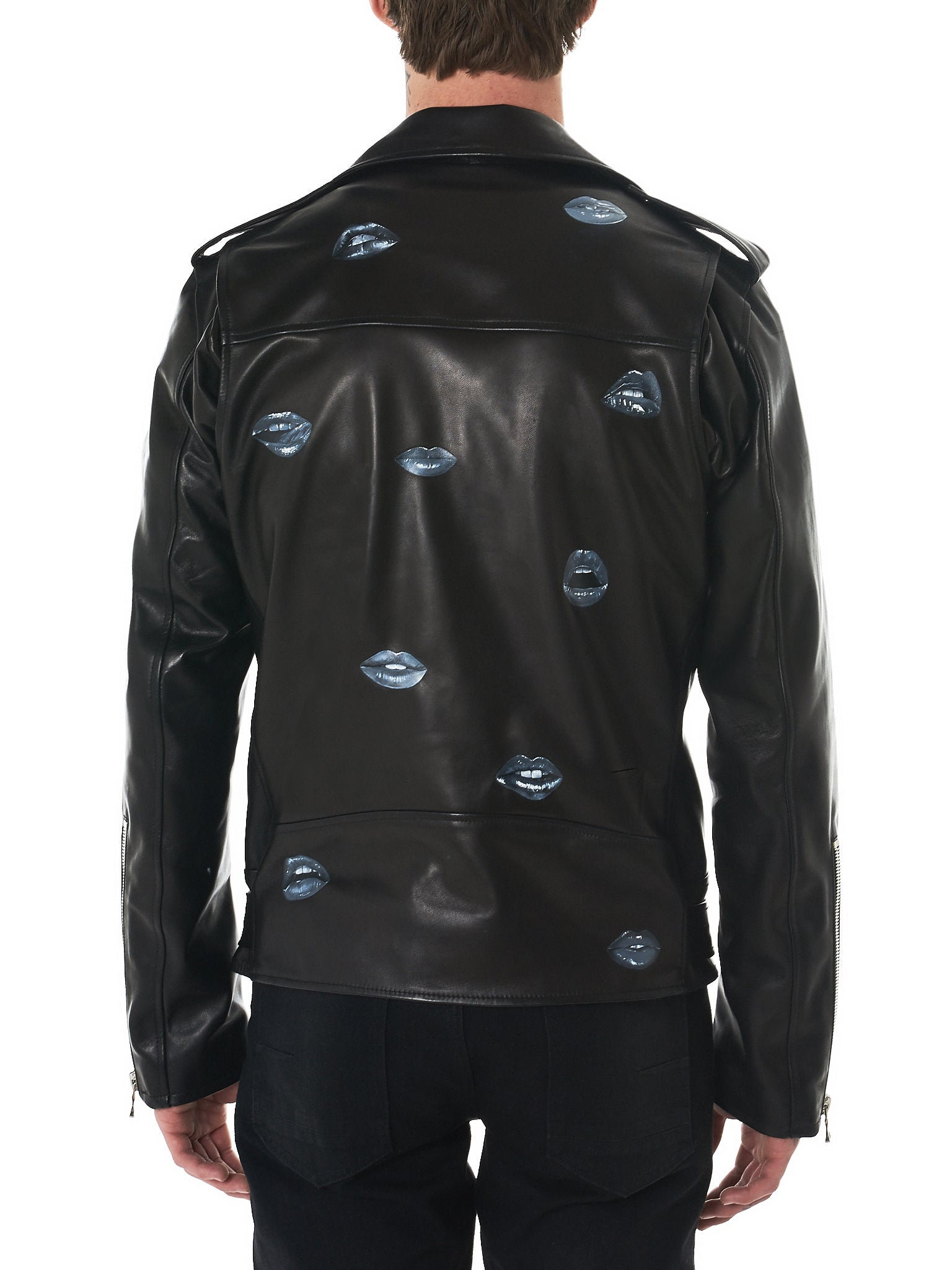 Nahmias Biker Jacket - Hlorenzo Back