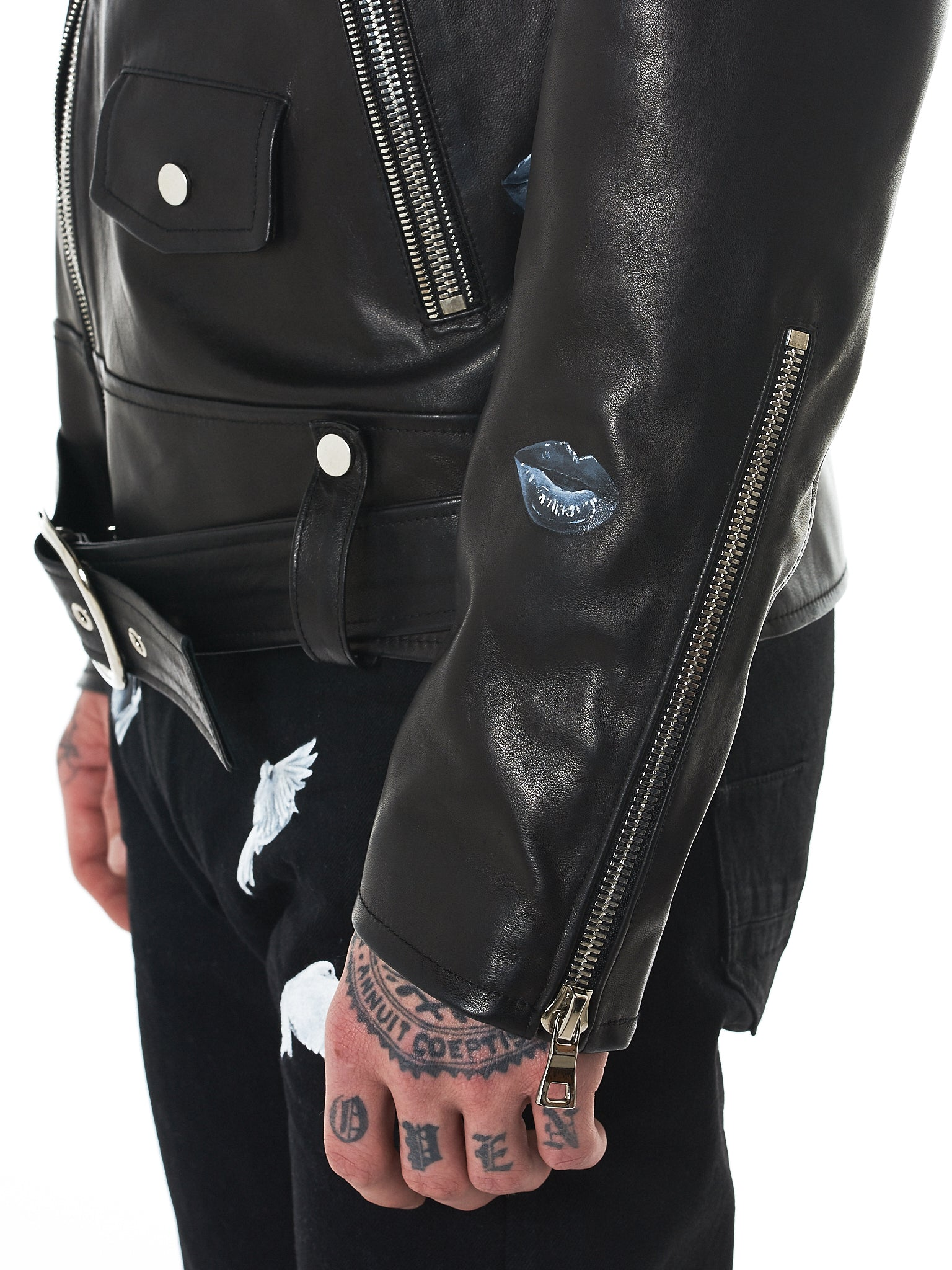 Nahmias Biker Jacket - Hlorenzo Detail 5