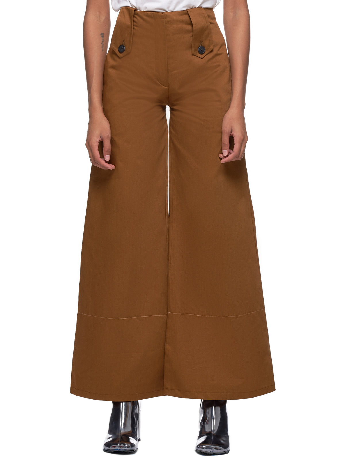 Wide Leg Trouser (Dm5tr5-Brown-Cargo)