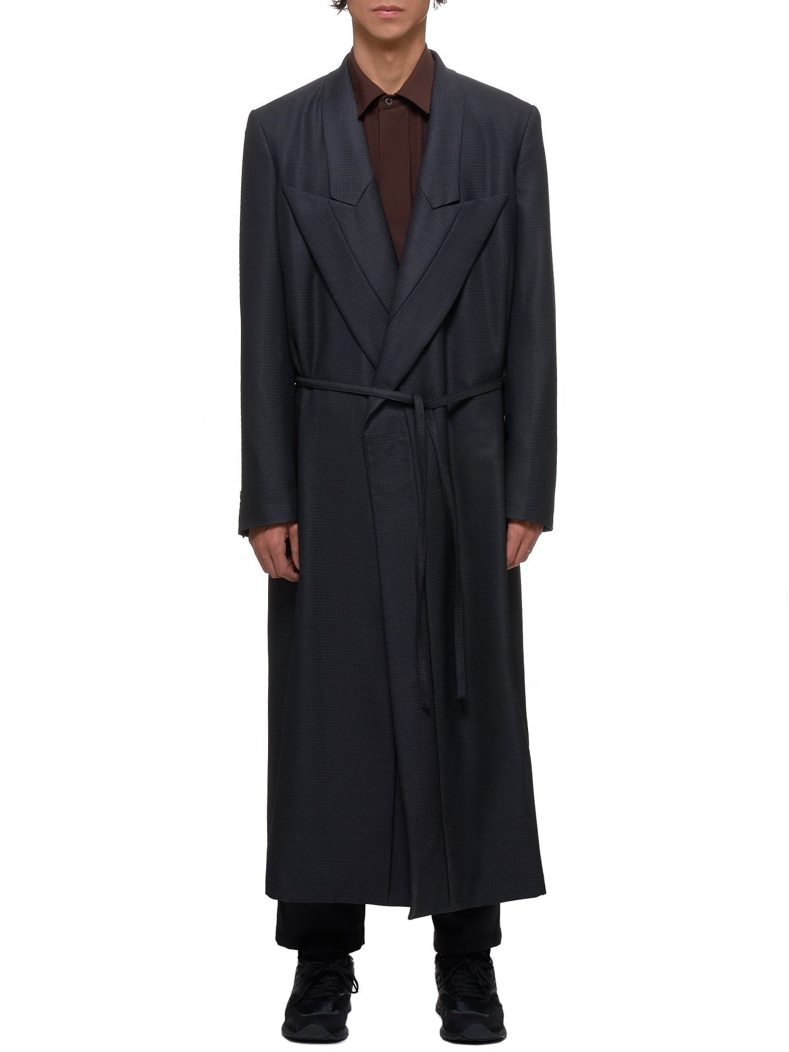 Check Coat (PD-J032-051-1-4-CHARCOAL-GRAY)