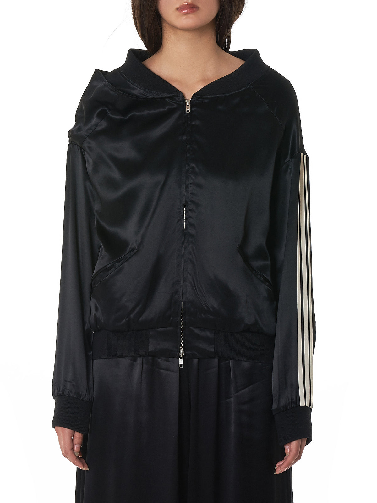 Lux Track Jacket (DP0741-BLACK-CHAMPAGNE)