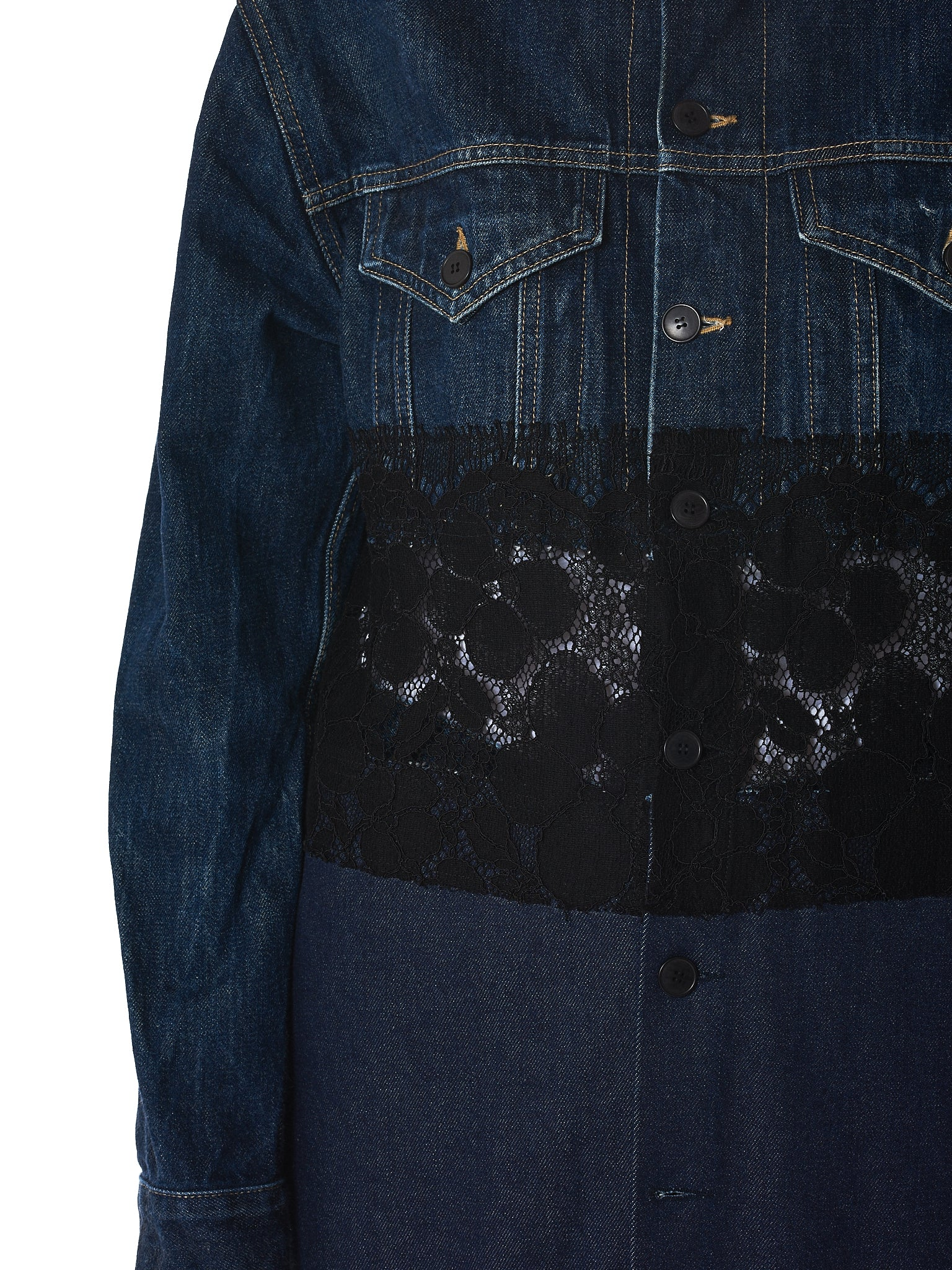 Lutz Huelle Denim Coat - Hlorenzo Detail 2