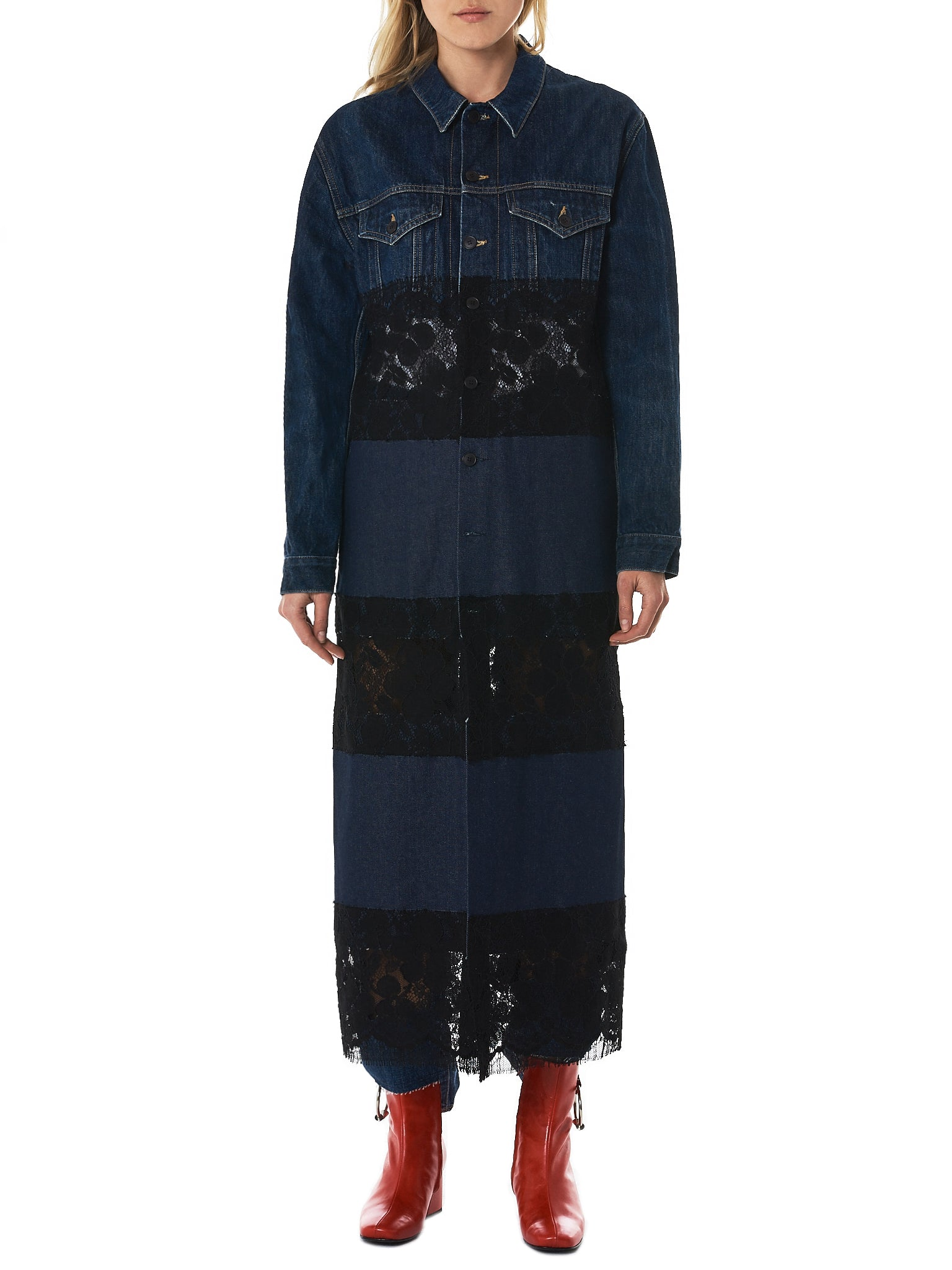 Lutz Huelle Denim Coat - Hlorenzo Front