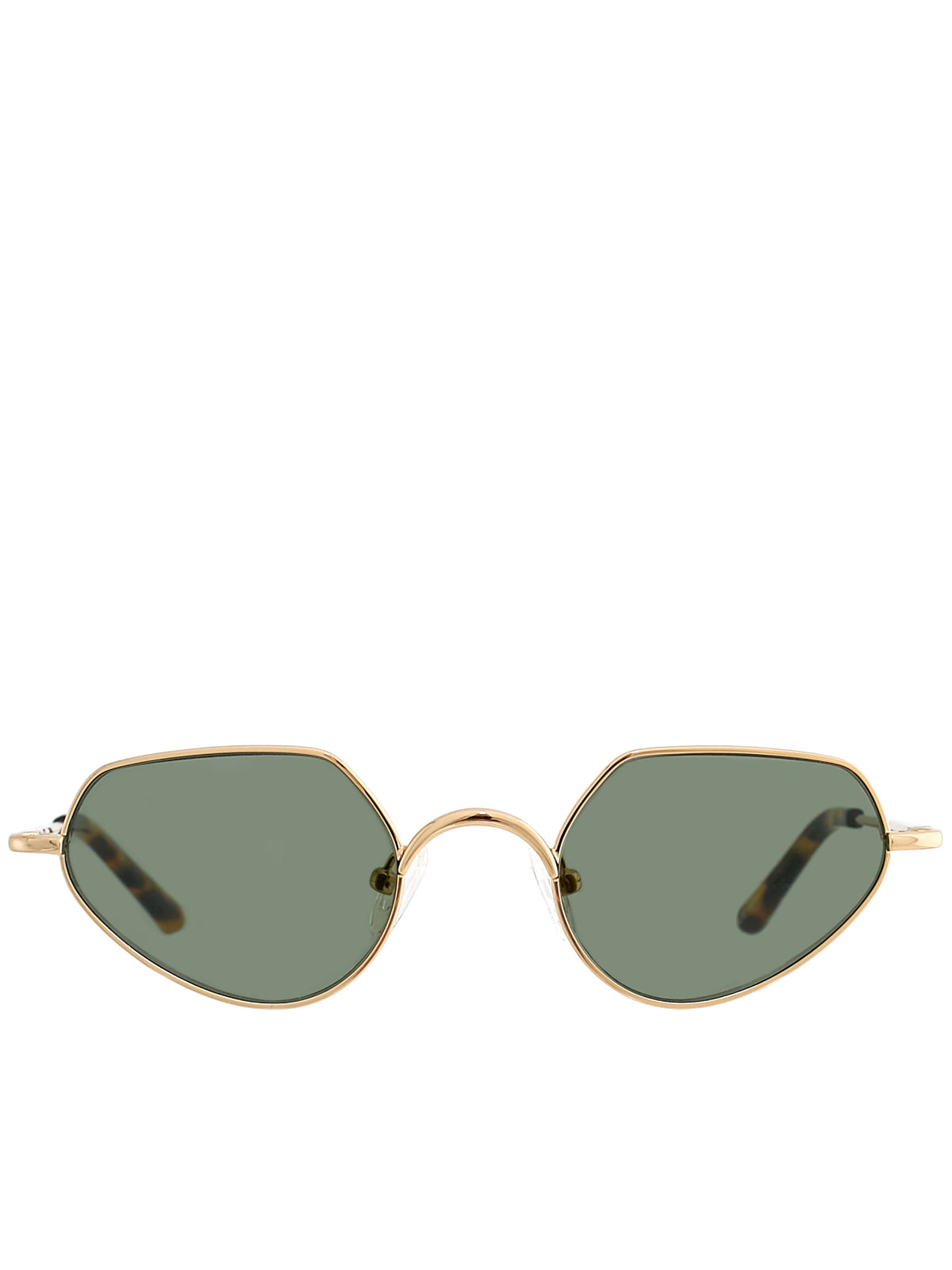 5fb18bcd2c5  Gold Linda Farrow Edition Angular Sunglasses  (DVN176C3SUN-YG-PETROL) ...