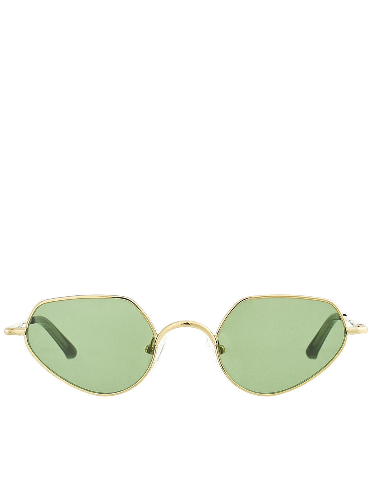 Cat Eye Sunglasses (DVN176C5SUN-YG-GREEN)