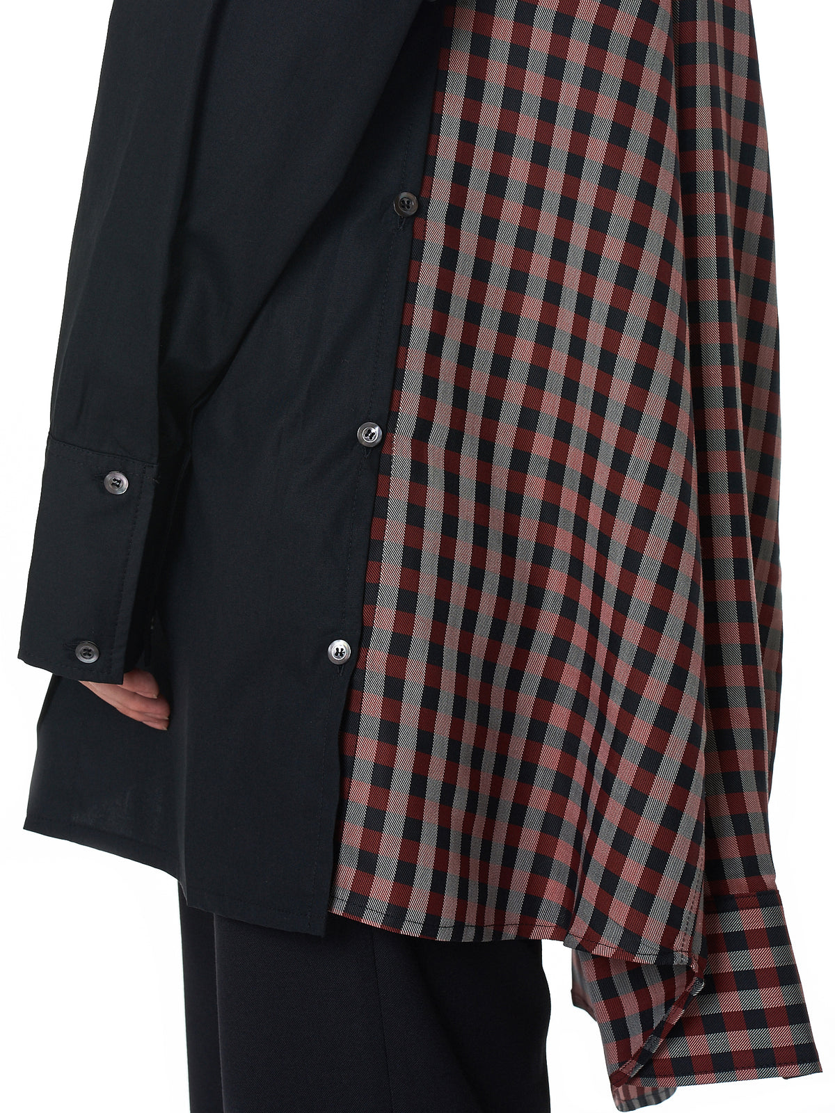 Double Shirt (DW4DR1-BLACK-RED-CHECK)