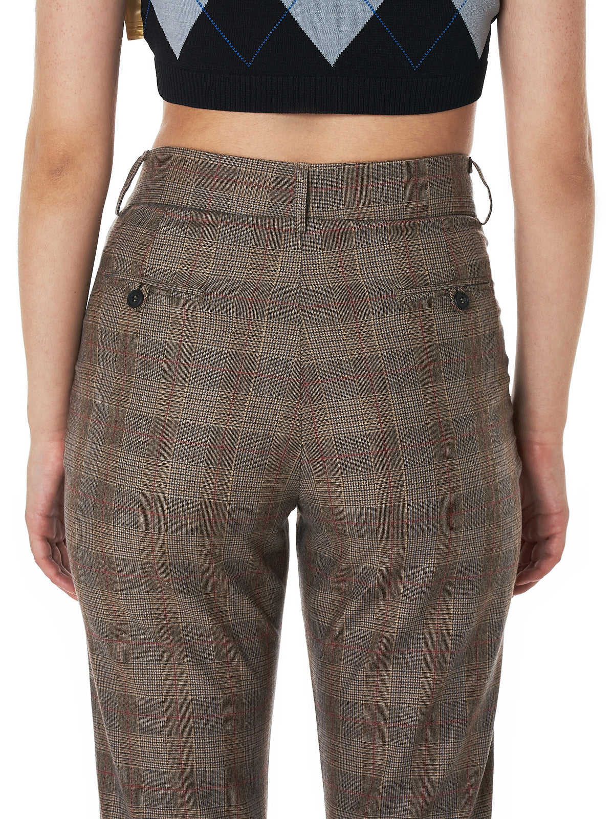 Folded Houndstooth Trouser (DW4TR5-BROWN-CHECK)