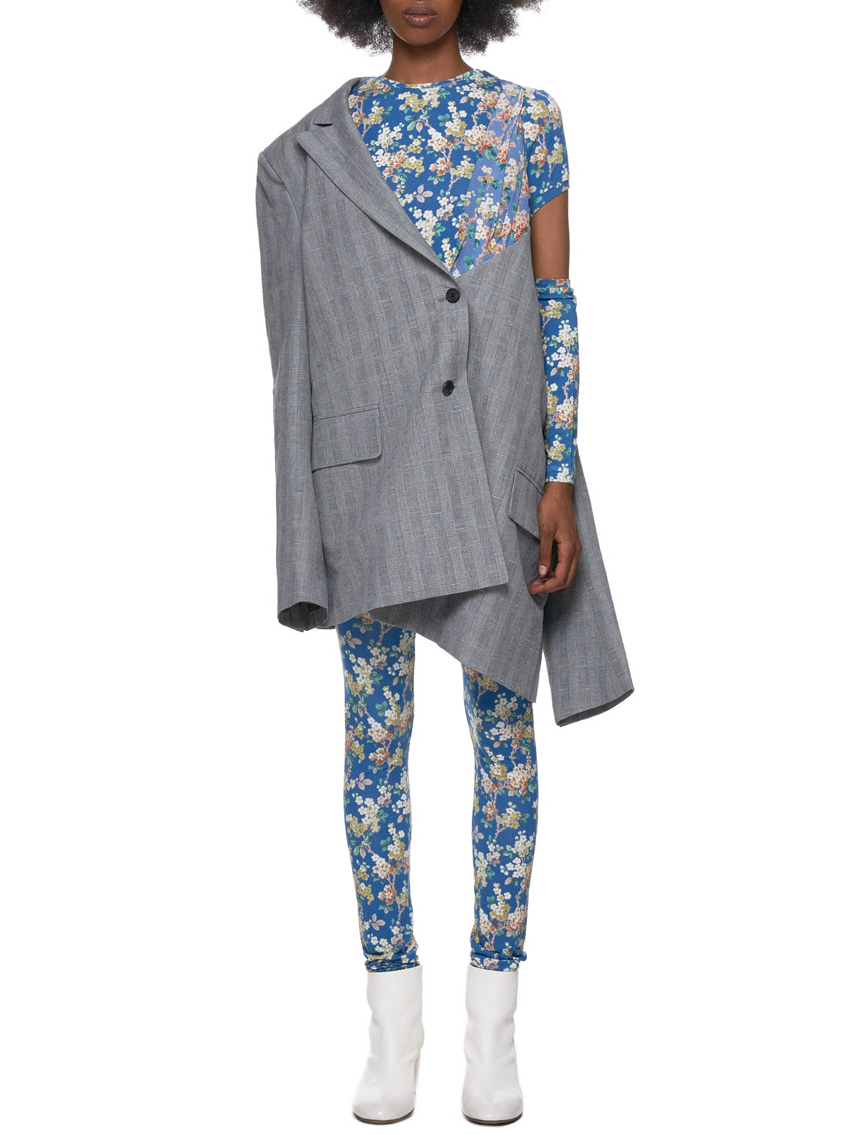 Hanging Blazer Dress (DWM5BLZ3-GREY-CHECK-BLUE-FLORA)