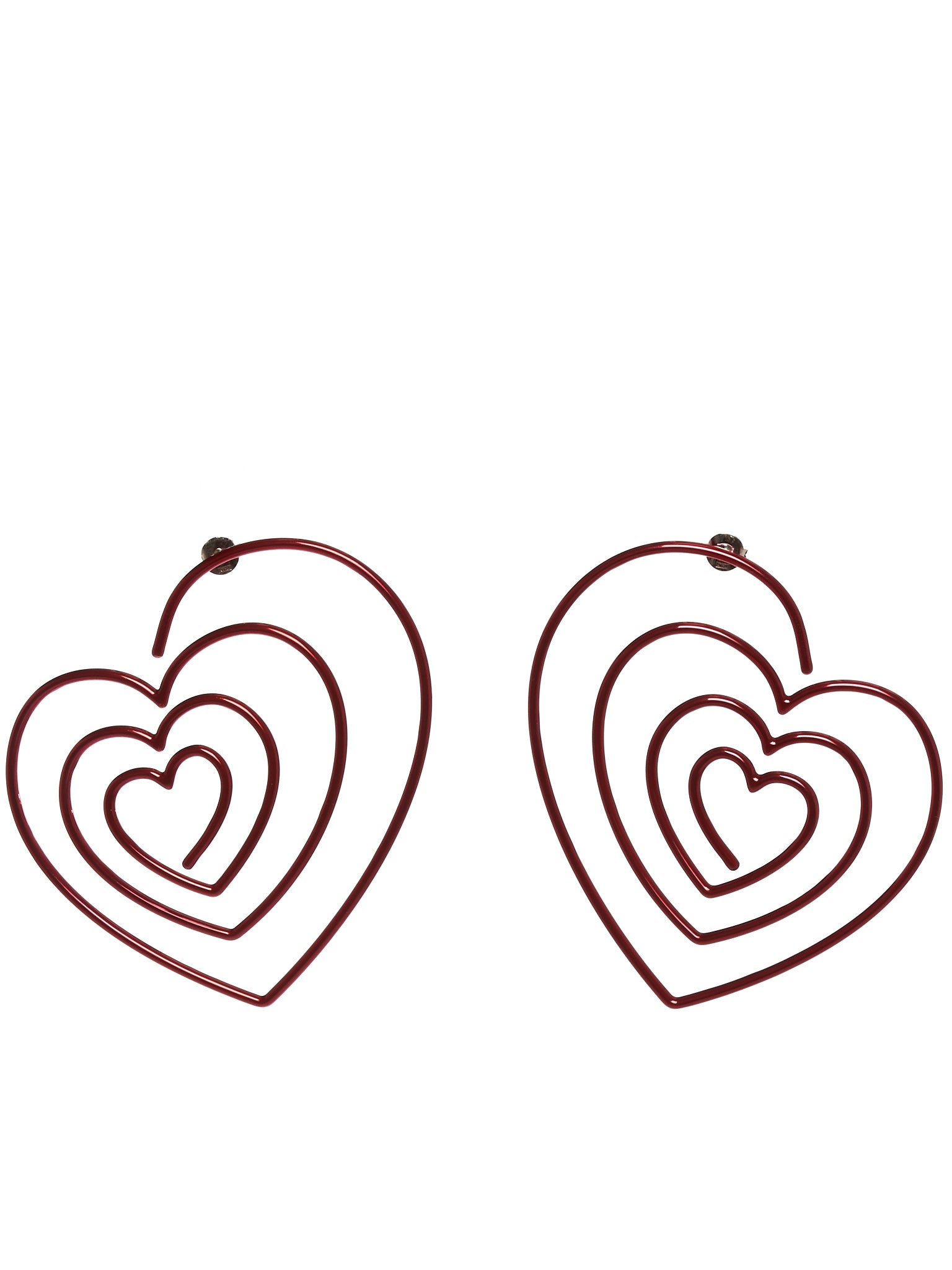Spiral Heart Earrings (EARRING16-S18-C01-RED)