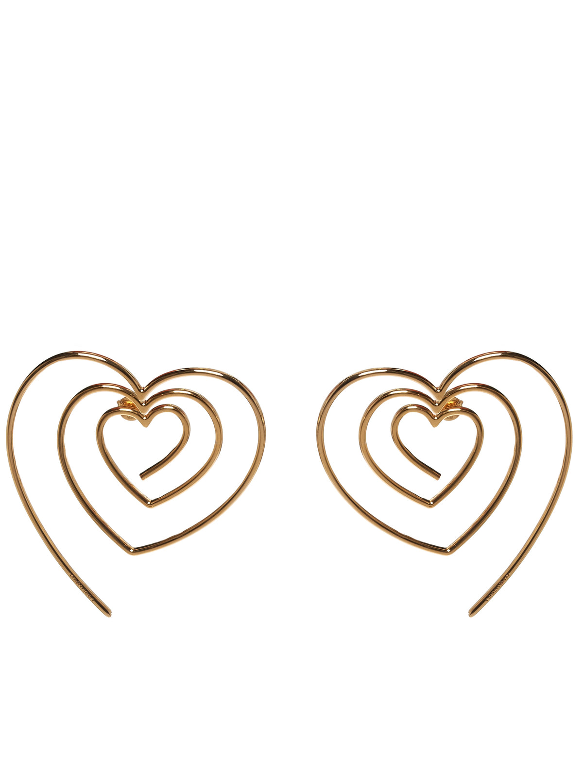 Spiral Heart Earrings (EARRING18-S18-C01-GOLD)