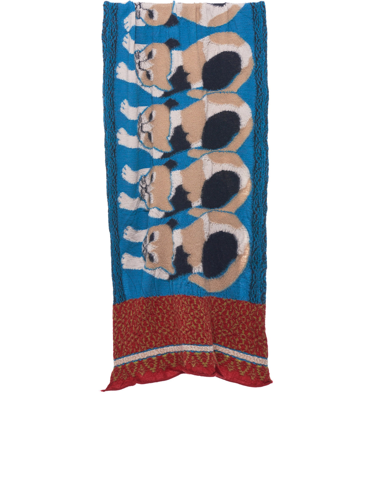 Cat Pattern Scarf (EK-392 BLUE)