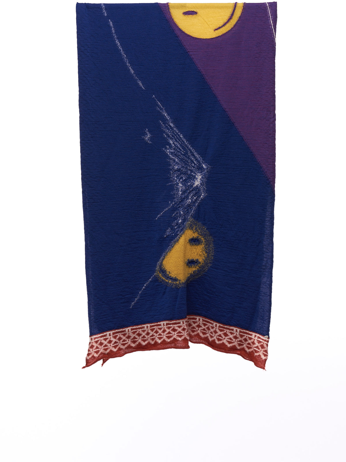 Sakura Kagami Fuji Scarf (EK-844-PURPLE-YELLOW-MULTI)