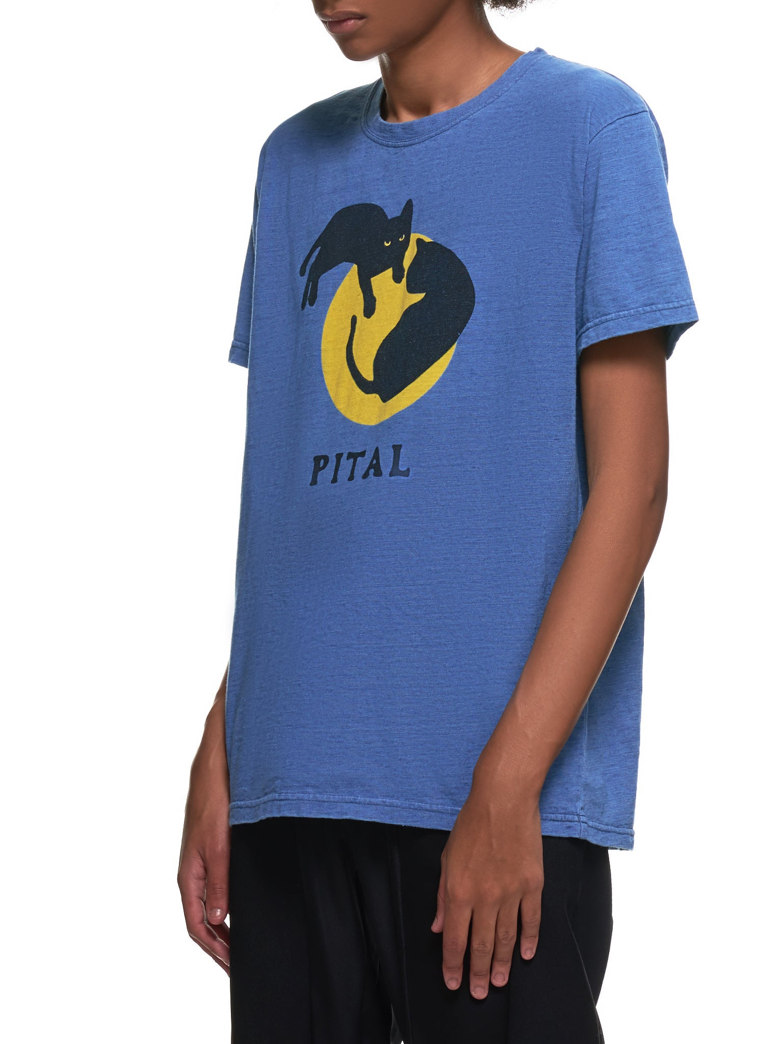 Pital Cat Smiley Face Shirt (EK-928-INDIGO)