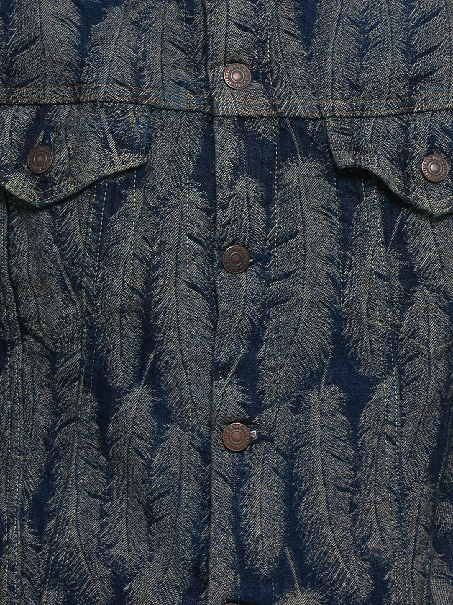 Jacquard Weave Denim Jacket (EK-981-INDIGO)