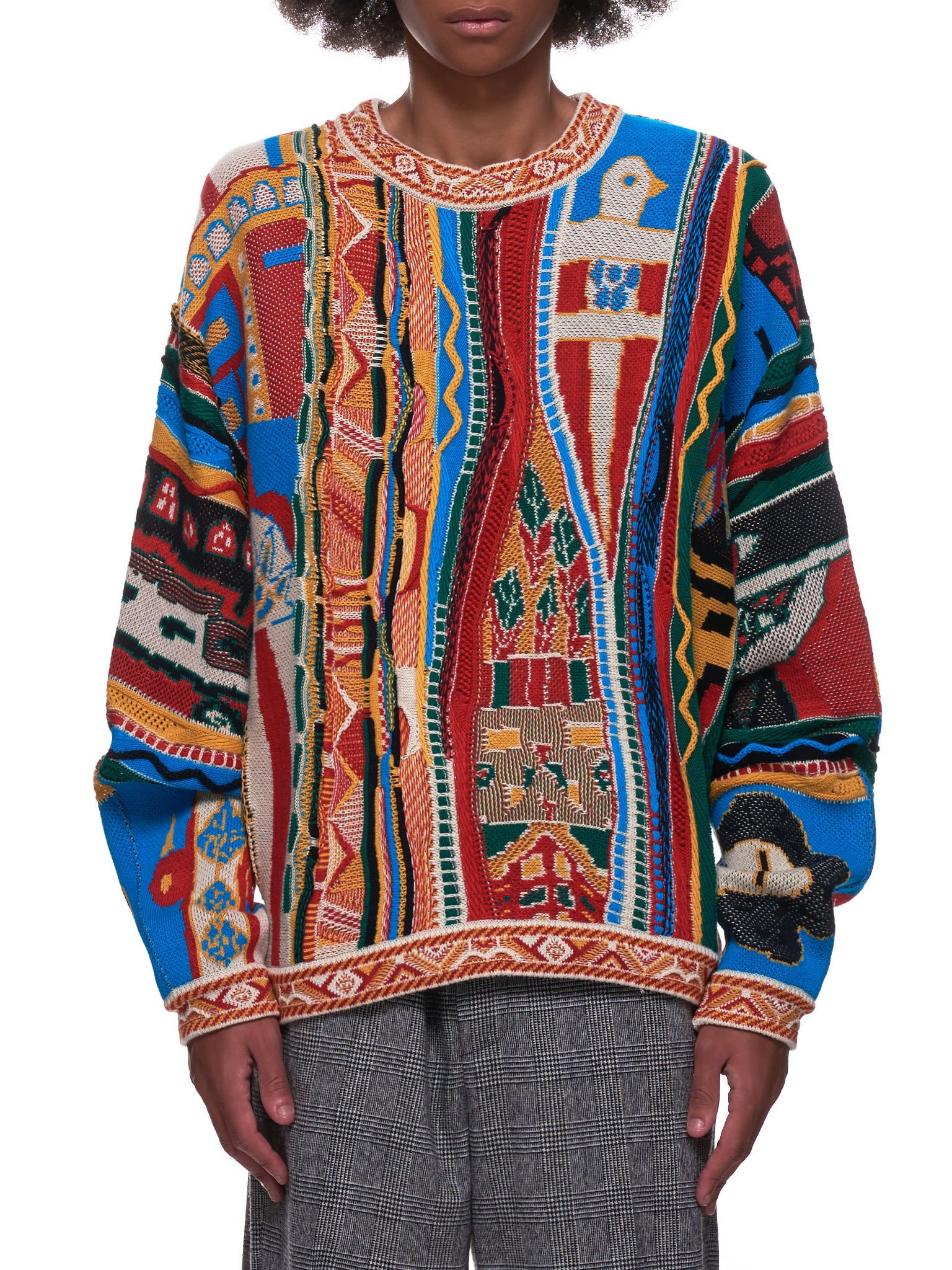 7G Gaudy Sweater (EK-985-RED-MULTI)