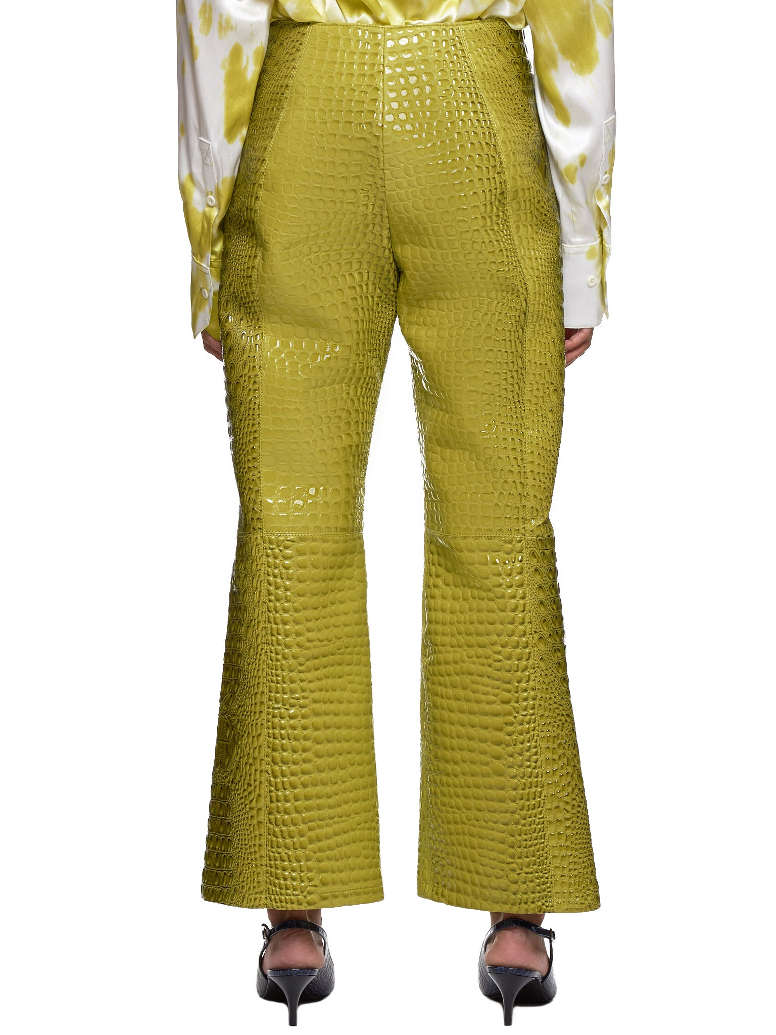 Leo Green Trousers - Hlorenzo Back