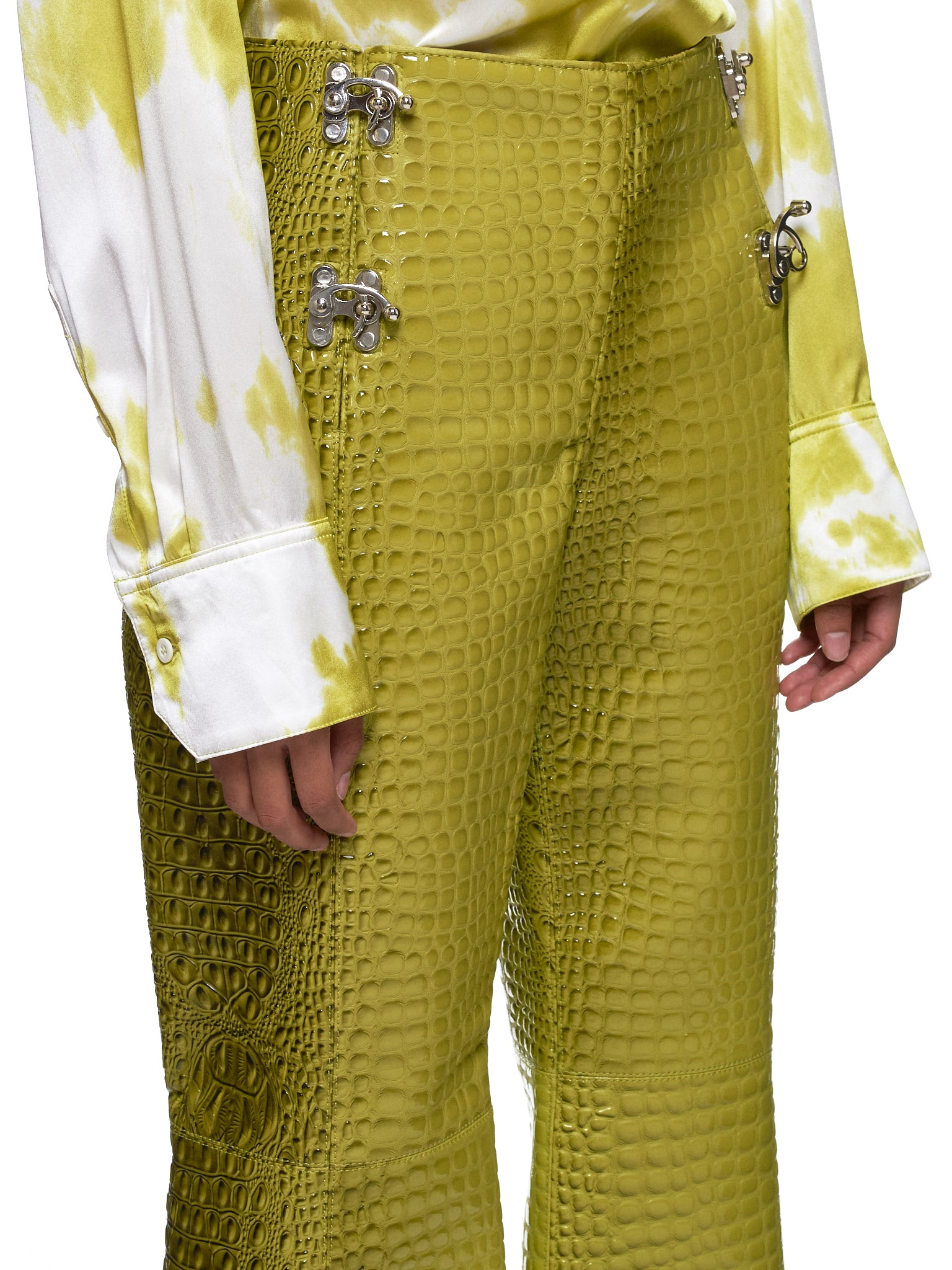 Leo Green Trousers - Hlorenzo Detail 1
