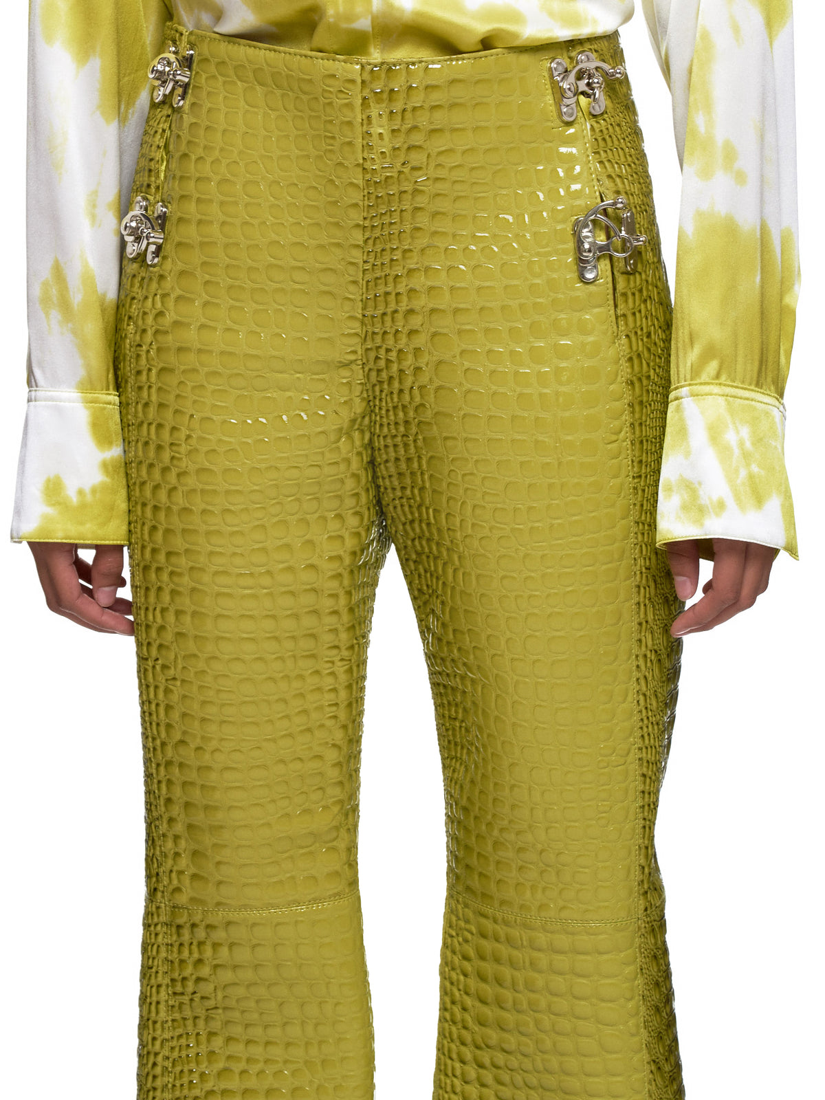 Leo Green Trousers - Hlorenzo Detail 2