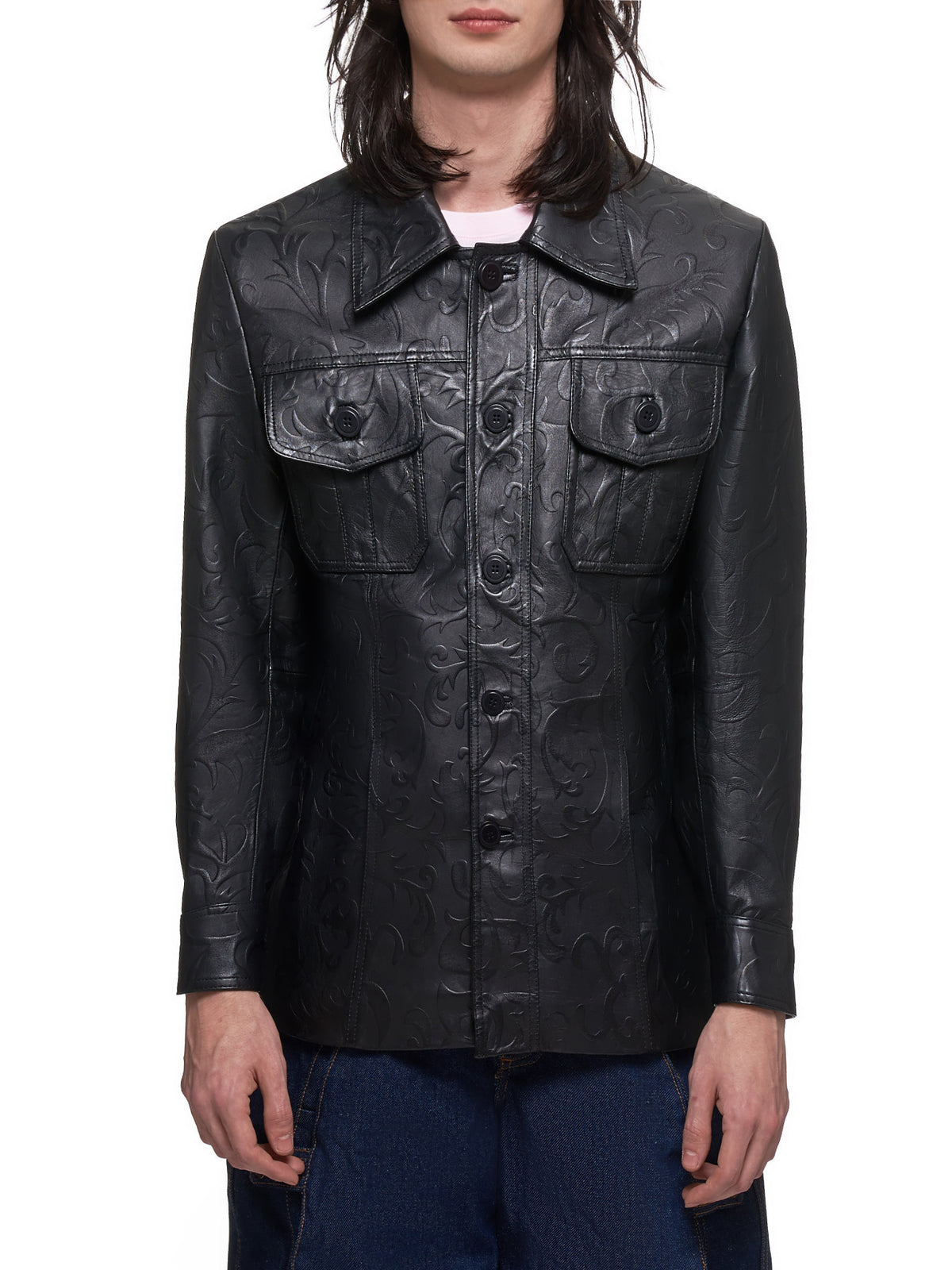 Embossed Lagunilla Shirt (EMBOSSED-09-B-01-BLACK)