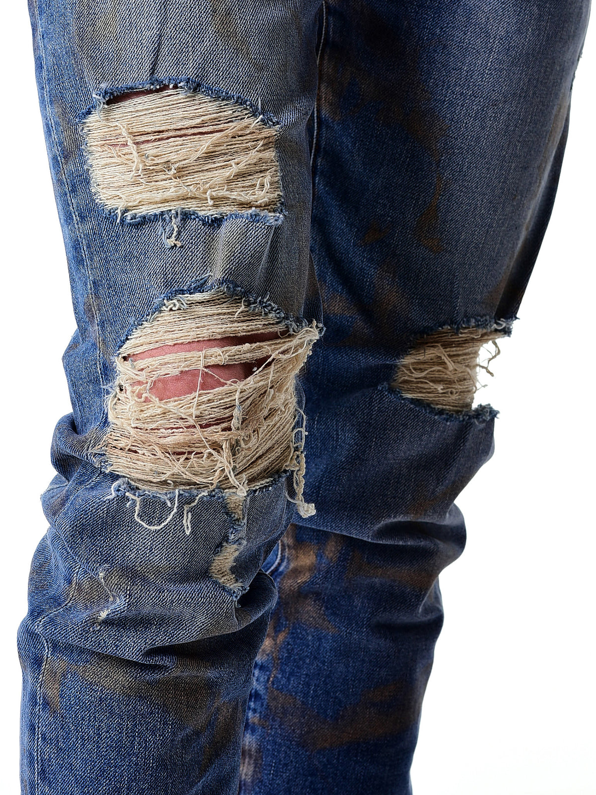 Distressed Denim Jeans (ENMTLJNS-BLACKME) - H. Lorenzo