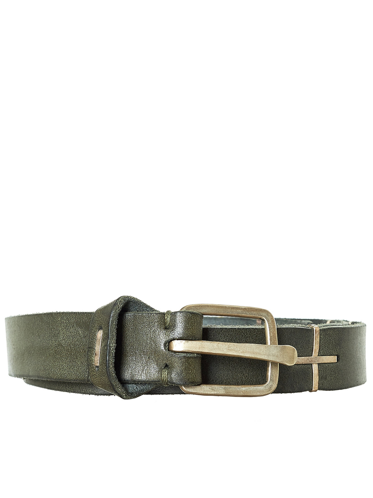 Leather Belt (EQ21C-GR-3-0-BRONZE-GREEN)