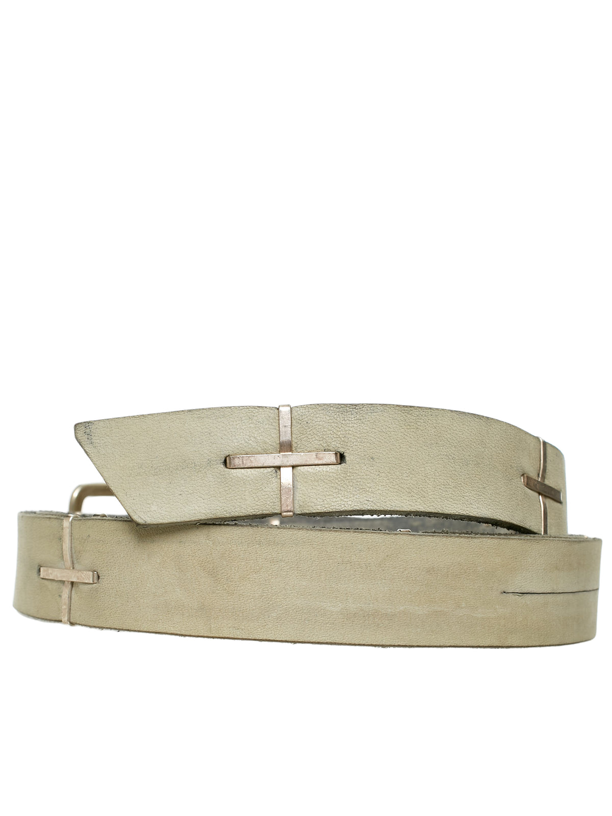 Long Leather Belt (EQ21C-GR-3-0-GREY)