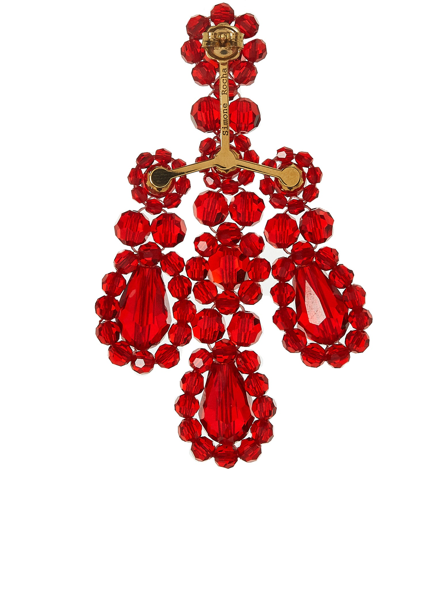 Simone Rocha Earrings - Hlorenzo Back Detail