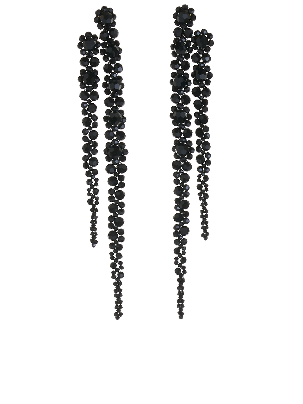 Double Drip Earring (ERG221-0903-JET)