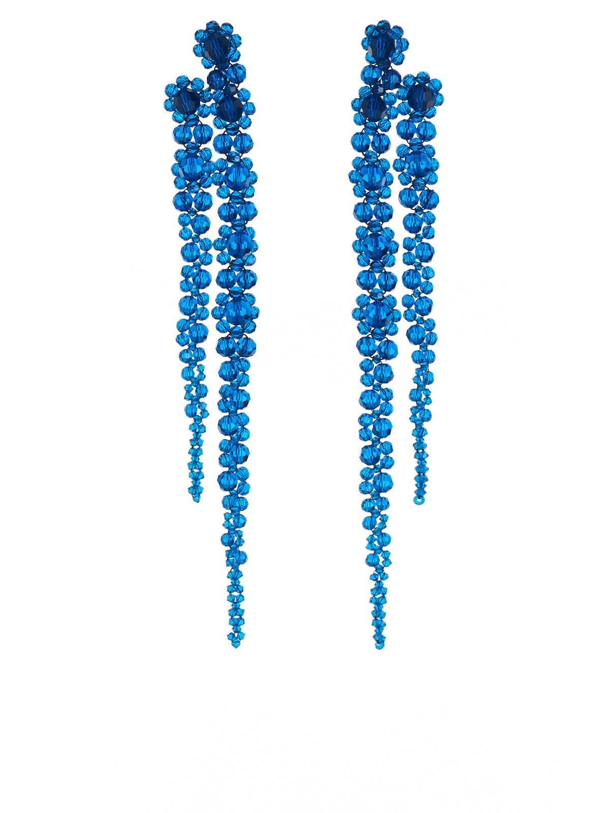Double Drip Earring (ERG221-0903-ROYAL-BLUE)