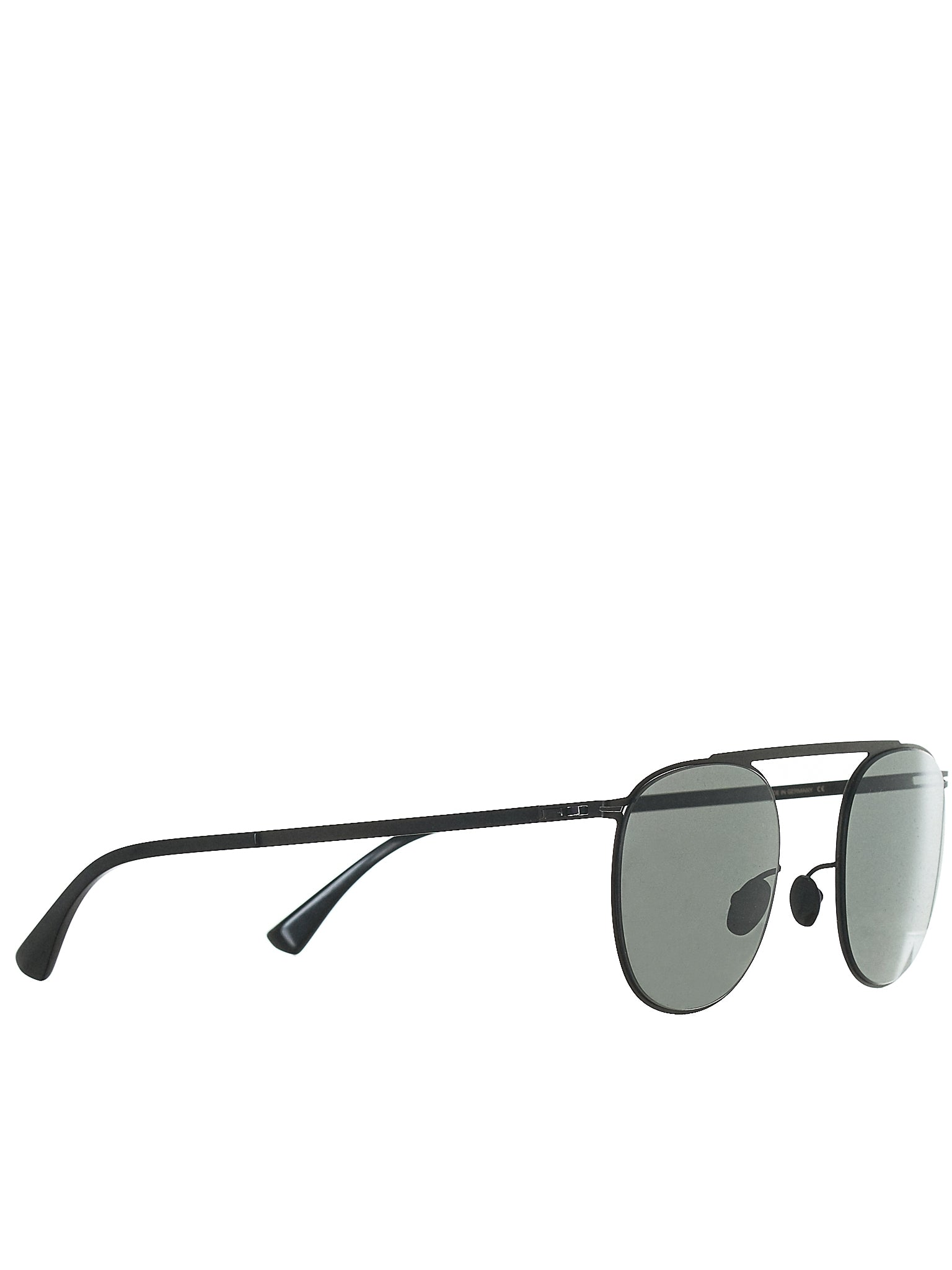 'Erling' Aviator Sunglasses (ERLING-BLACK-DARKGREY-SOLID)