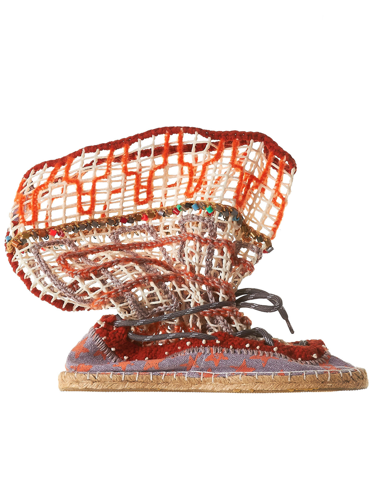 Netted Espadilles (ES04-ORANGE-RED)