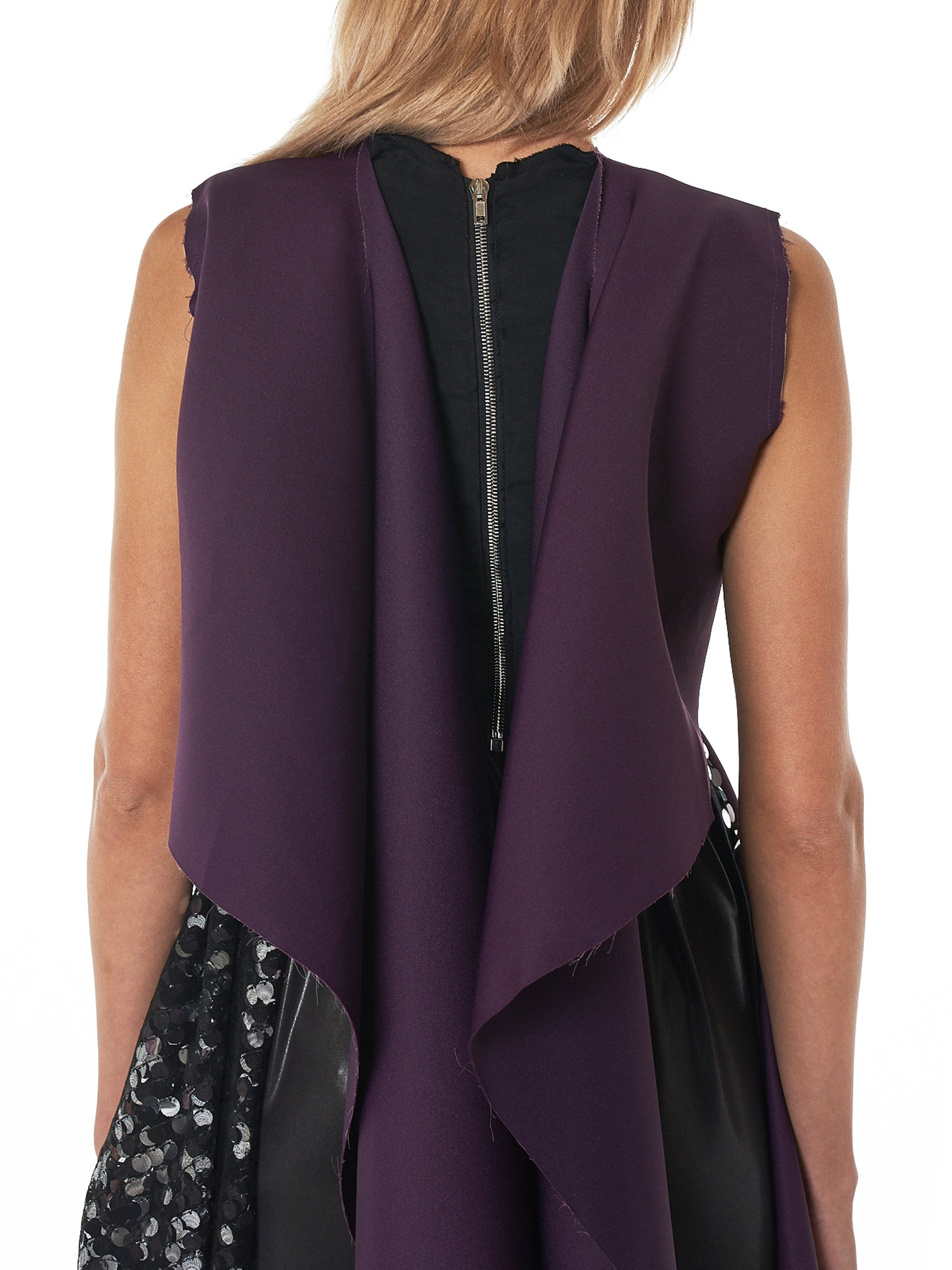 'Ghost' Sleeveless Top (F1150-DARK-PURPLE)