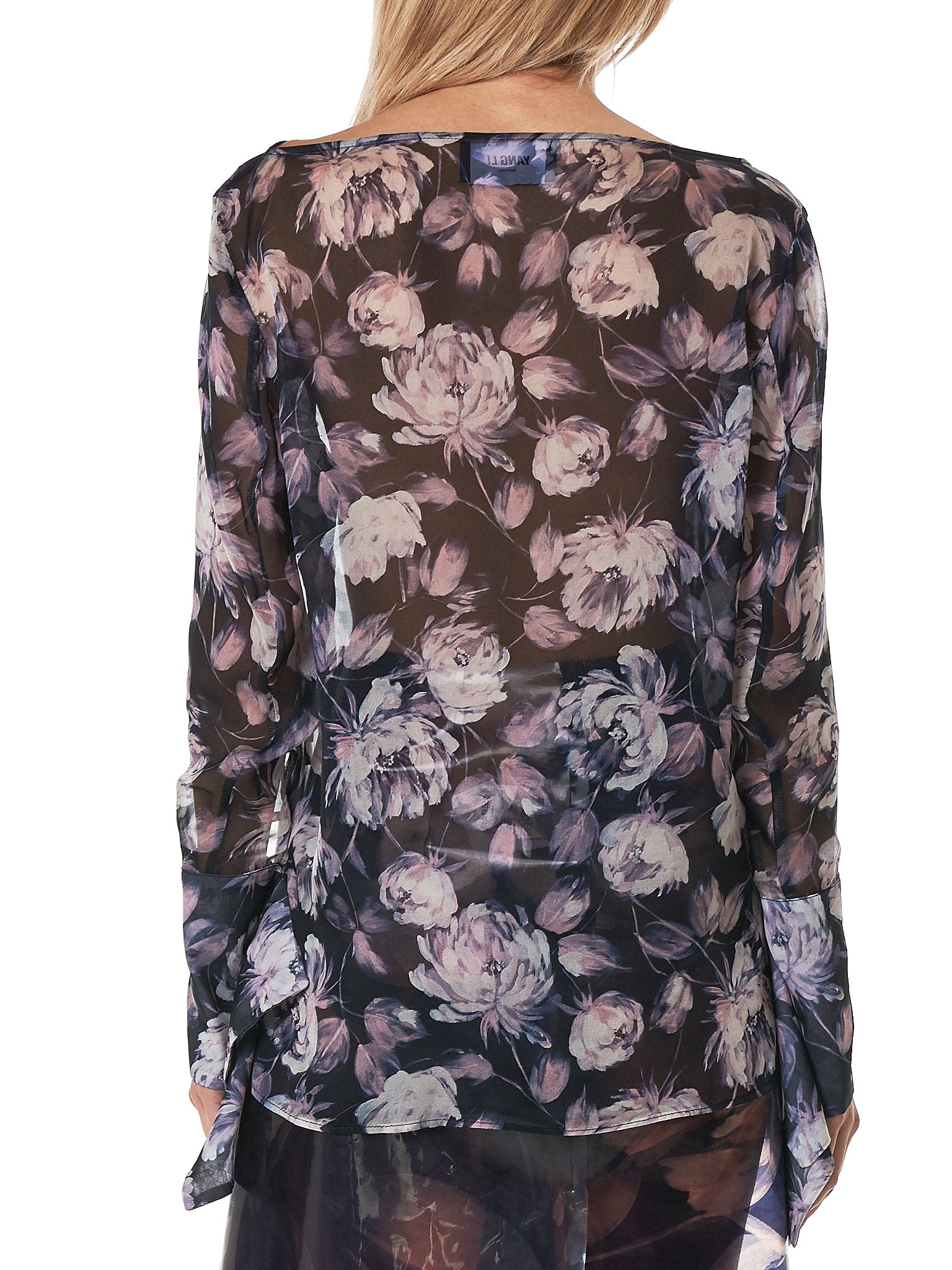 Slashed Cuff Blouse (F1151-FLOWER-PRINT)