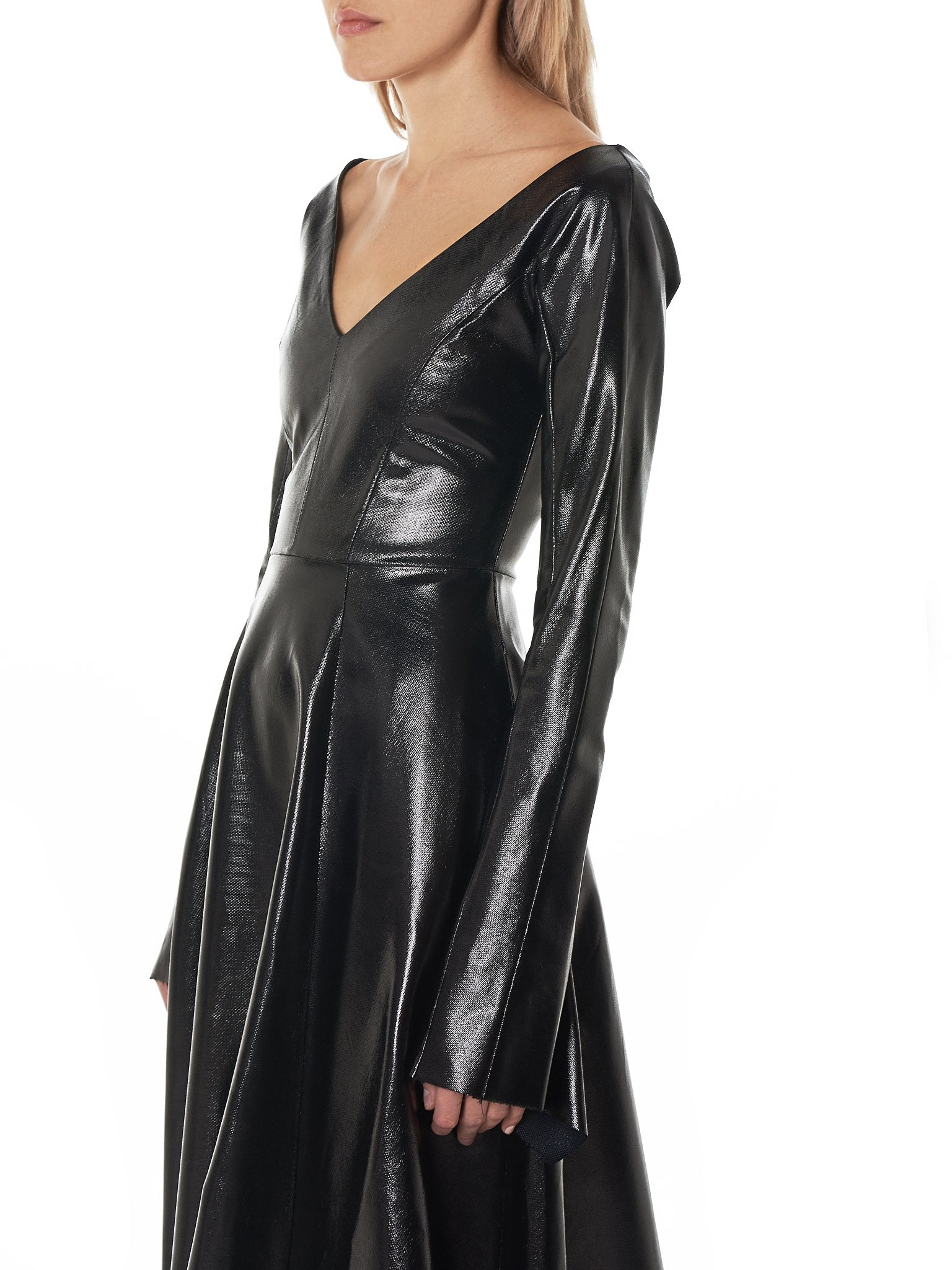 Coated Couture Dress (F7150-BLACK)